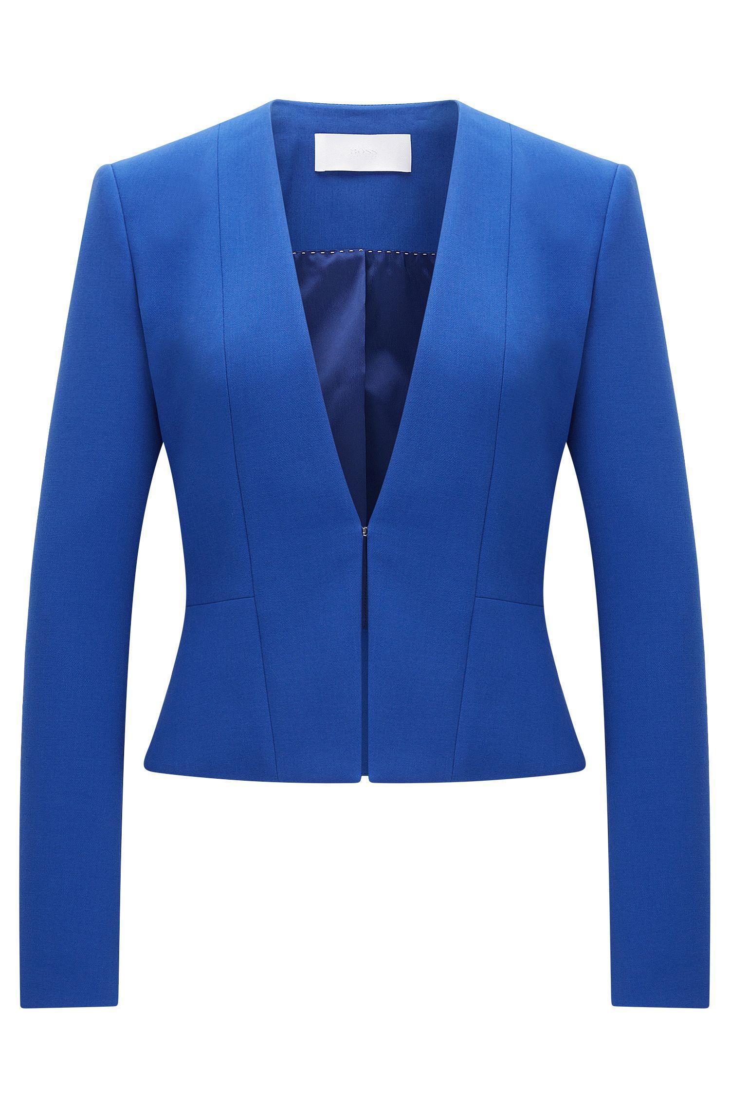 Taillierter Blazer aus elastischem Material-Mix mit Viskose und Baumwolle: 'Jemida'