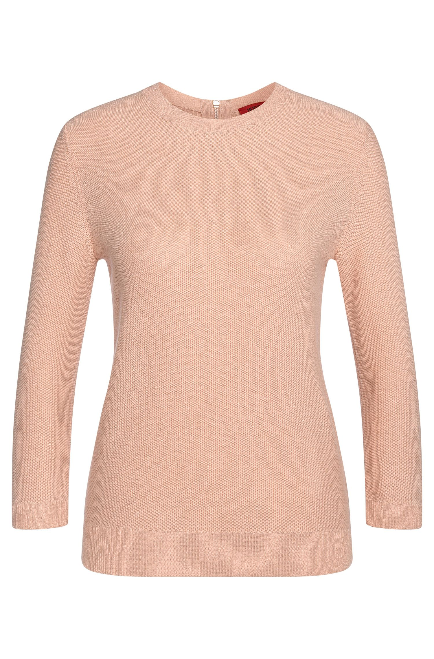 Sweater in cotton blend with viscose and silk: 'Satella'