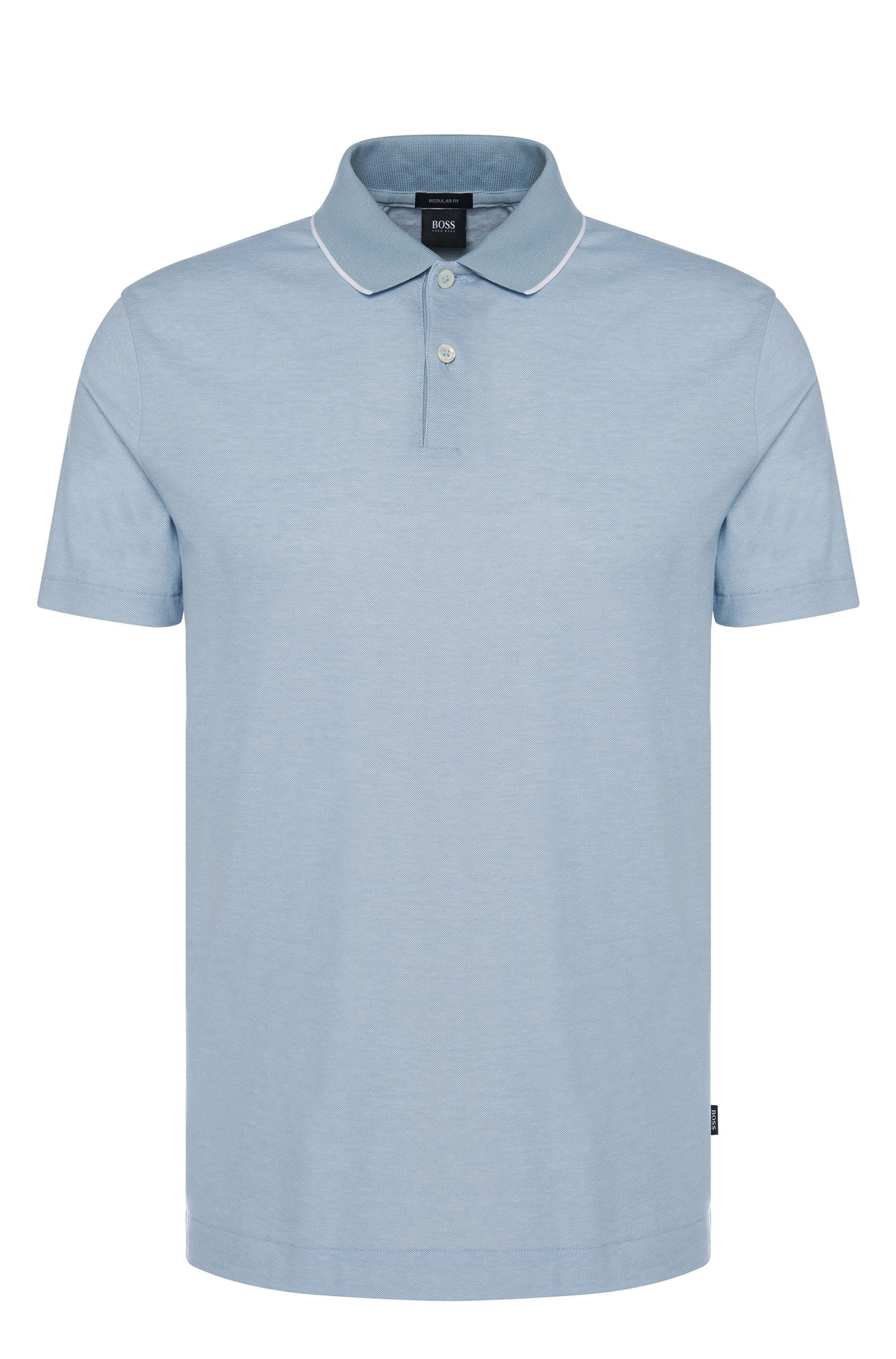 Polo regular fit in cotone con colletto a contrasto: 'Piket 06'