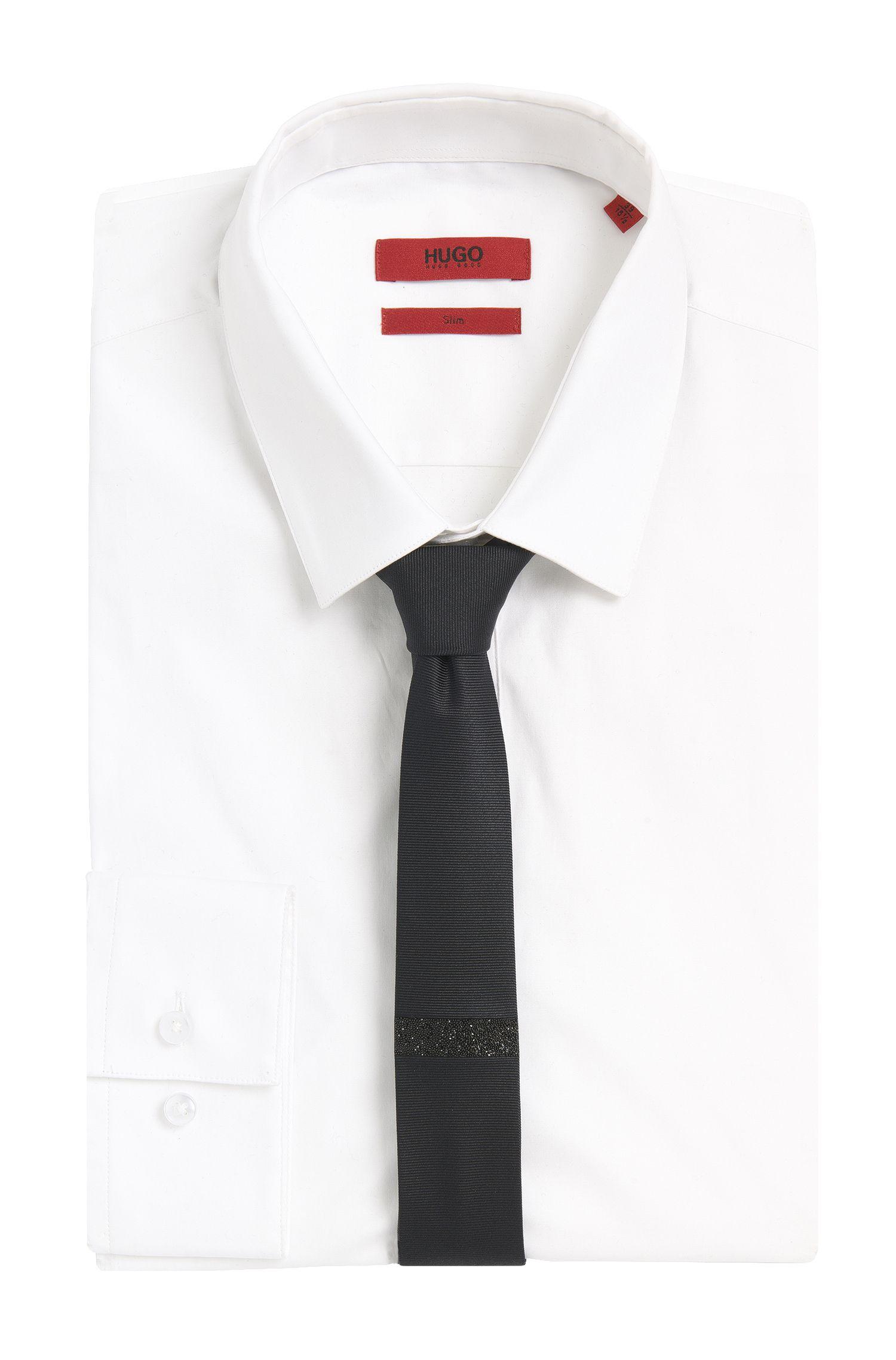 Stropdas van zijde in een smal model: 'Tie 4,5 cm glitter'