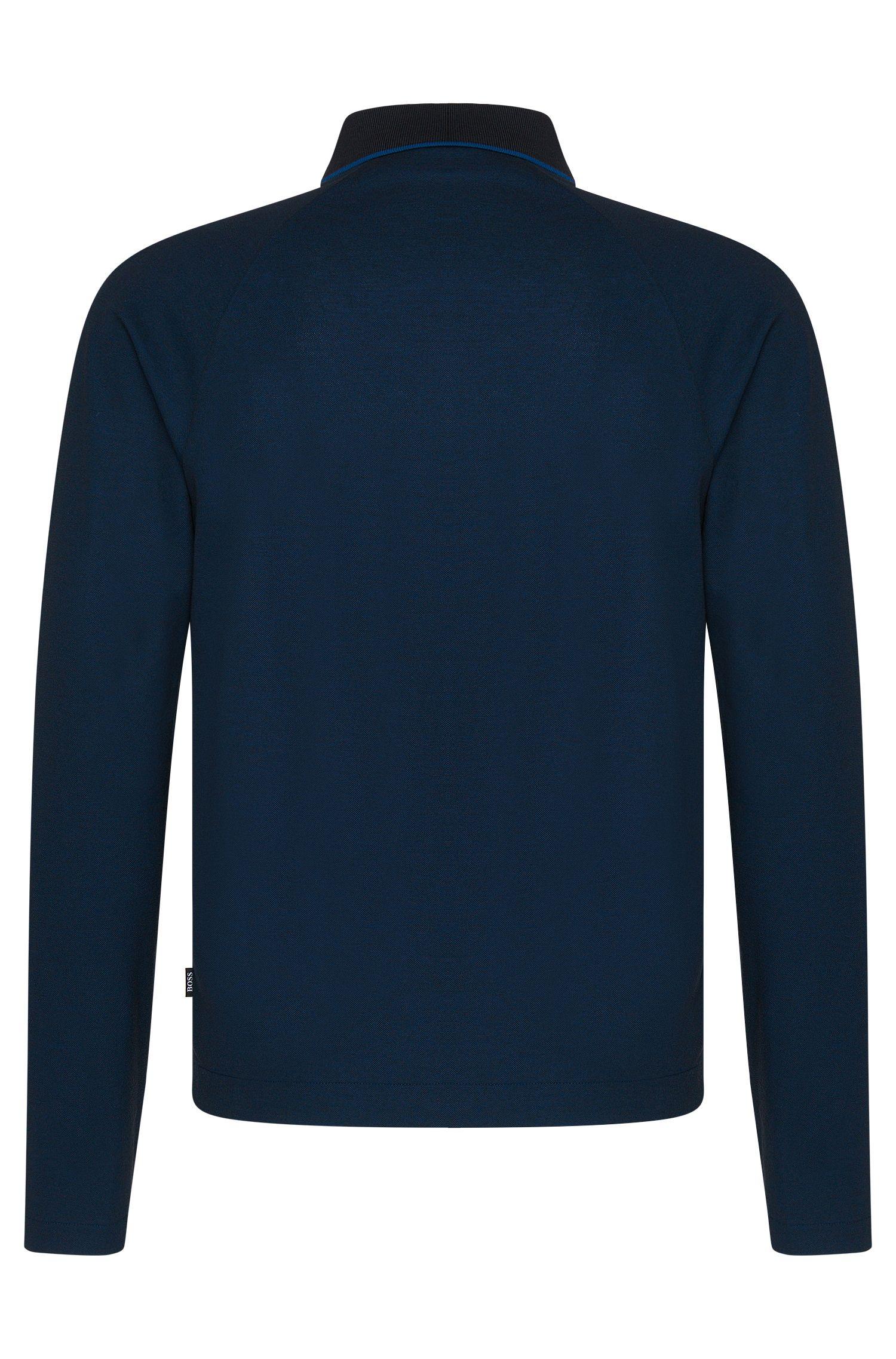 Polo à manches longues Regular Fit en coton: «Pado 05»