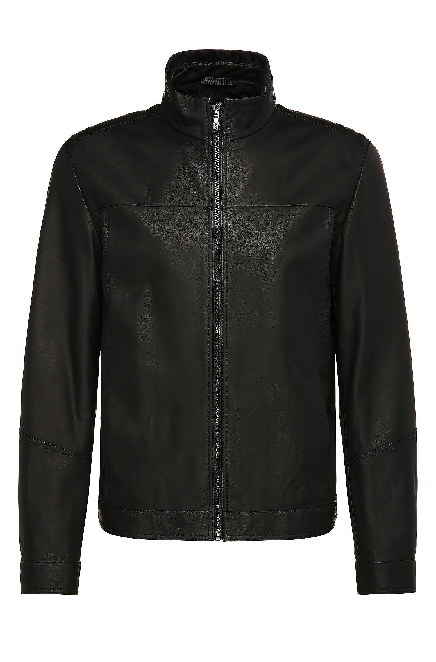 Blouson en cuir Regular Fit de style blouson: «Jalpin»