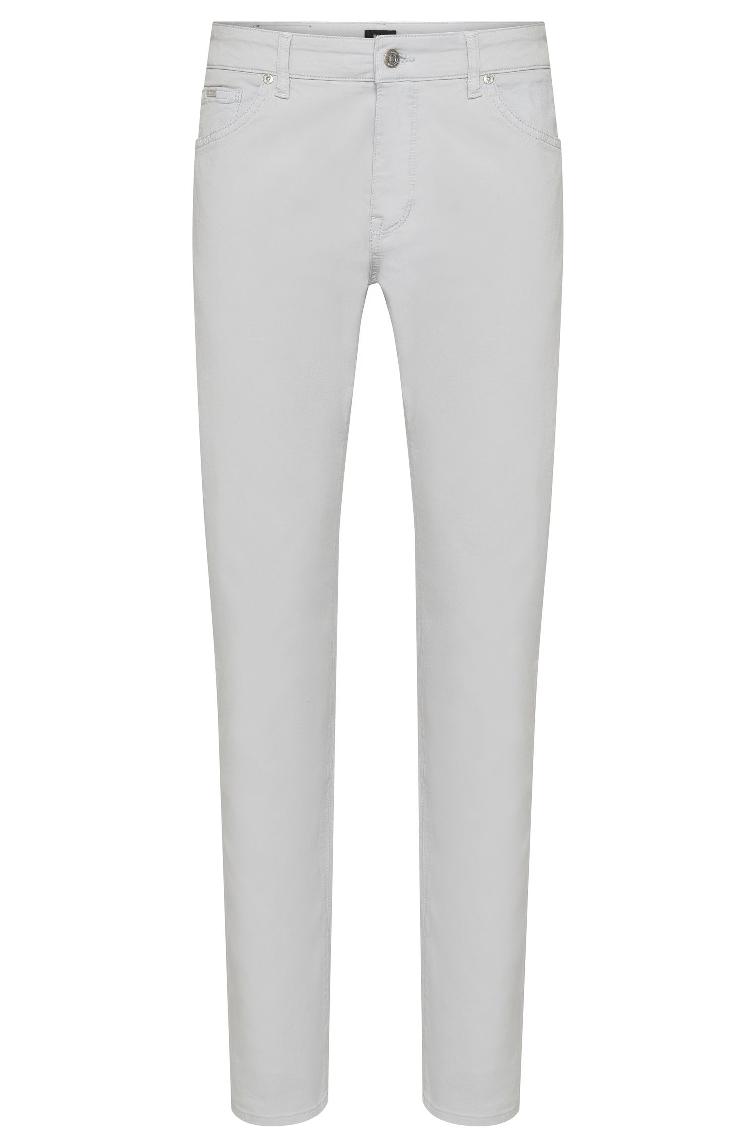 Plain-coloured regular-fit trousers in stretch cotton: 'Maine3-20'