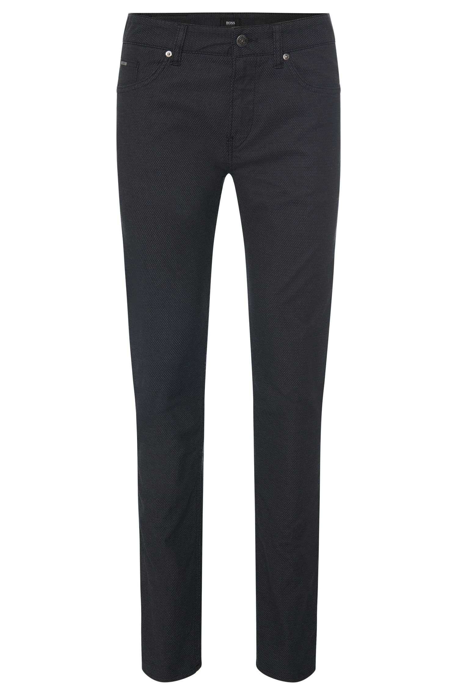 Pantalon Slim Fit en coton stretch structuré : « Delaware3-20 »
