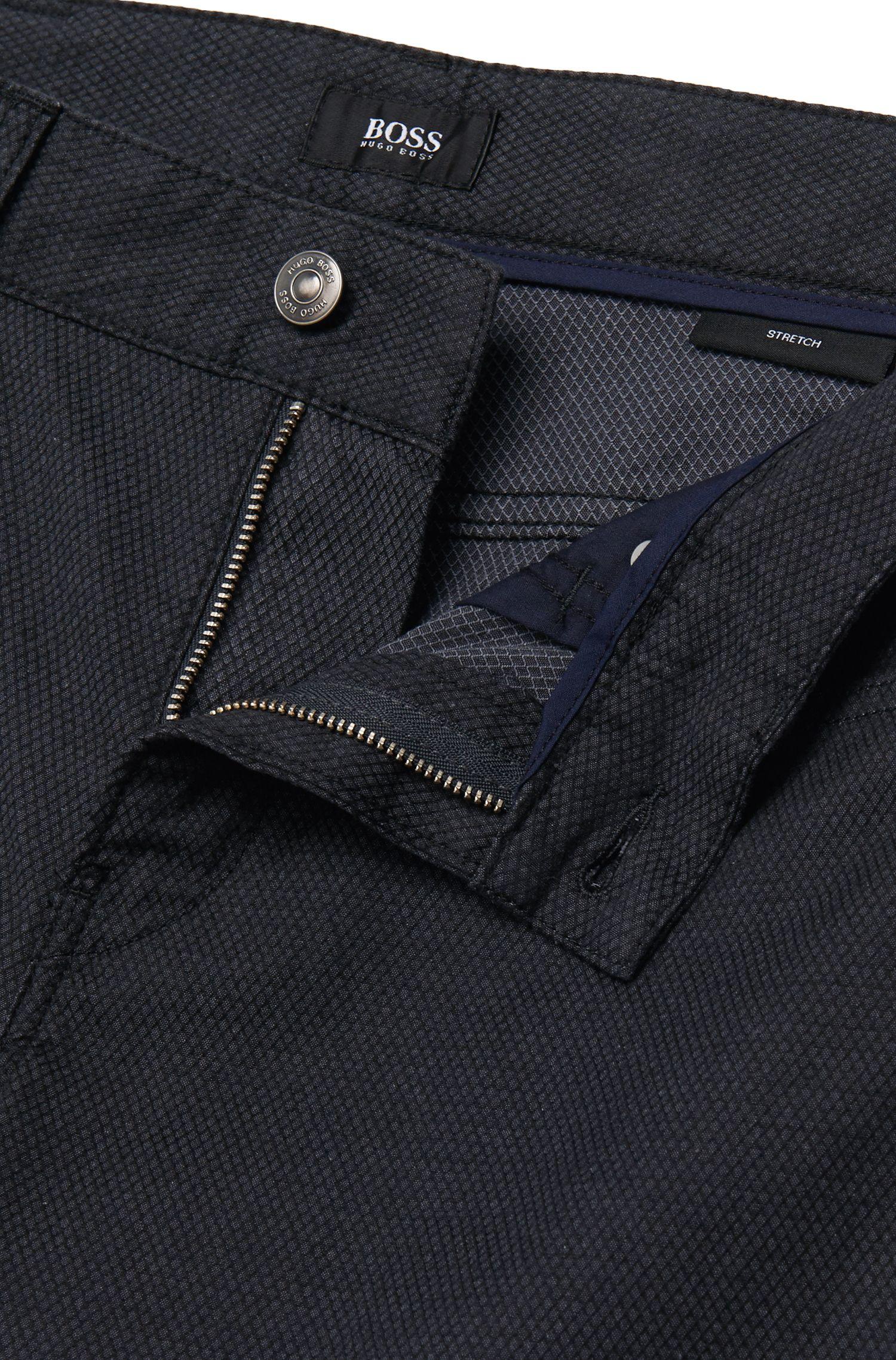 Slim-Fit Hose aus strukturierter Stretch-Baumwolle: 'Delaware3-20'