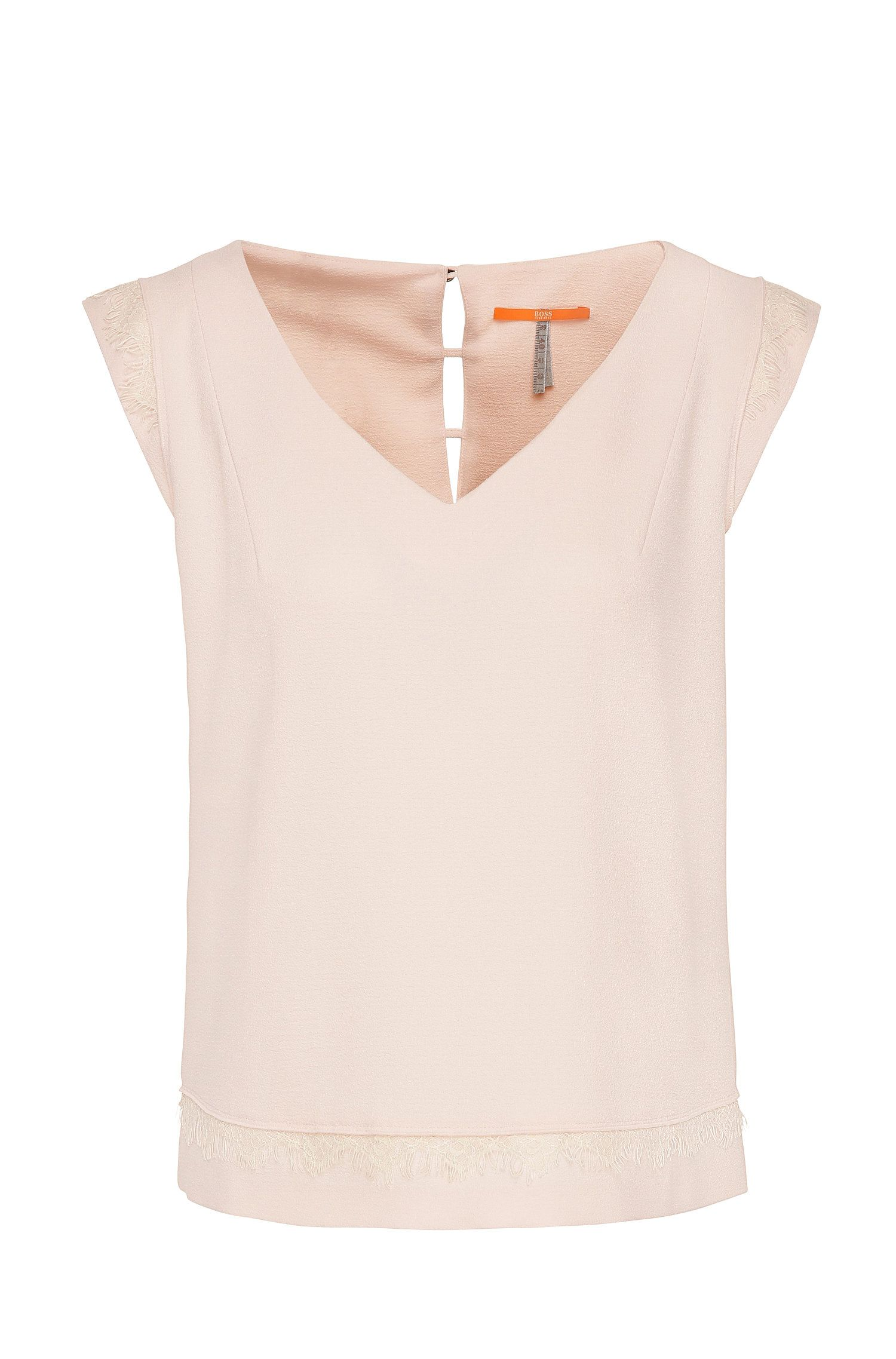 Regular-fit top in stretchy material blend: 'Katapy'