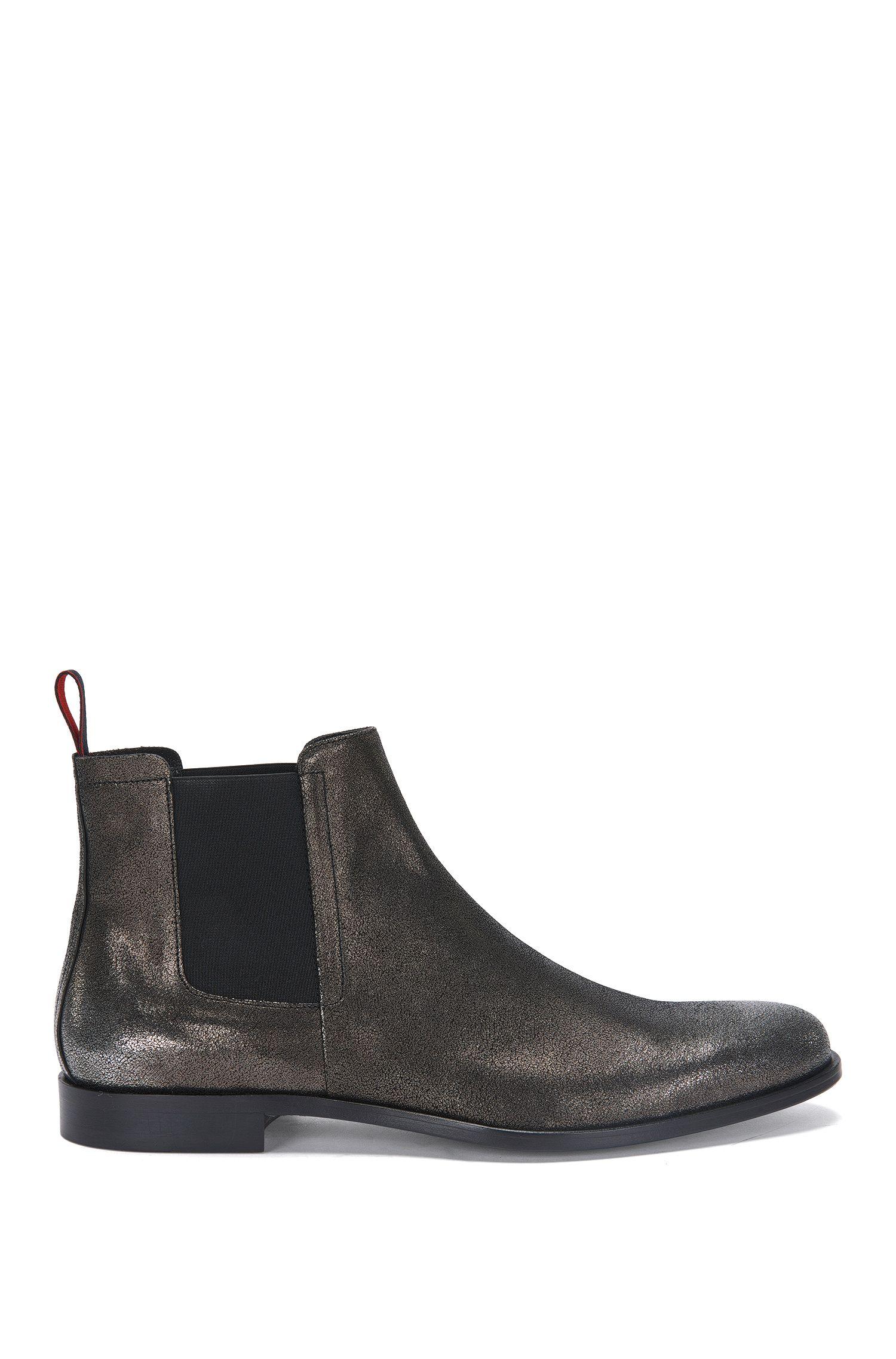Chelsea-laarzen van leer in een metallic look: 'Sigma_Cheb_sdgl'