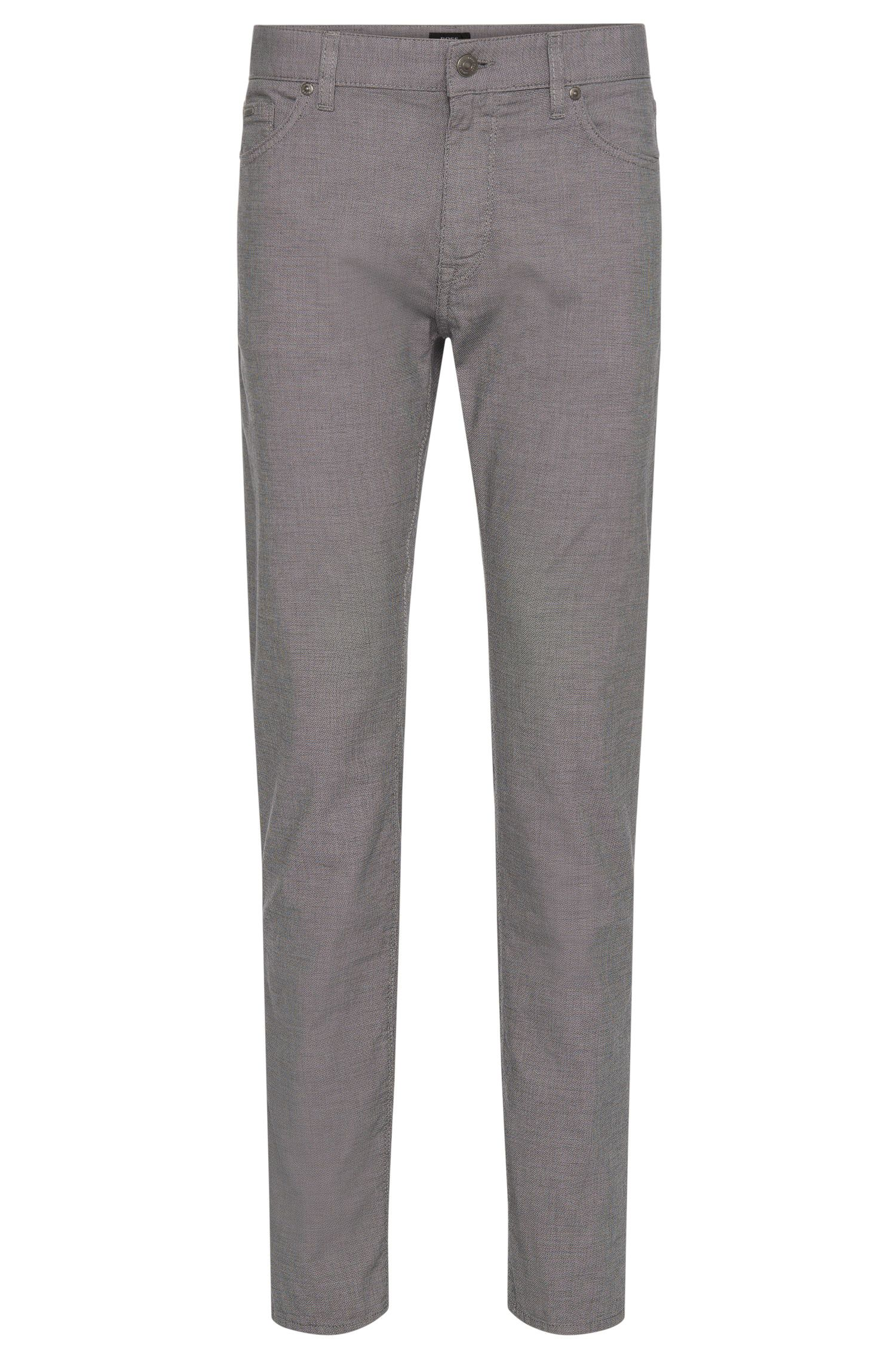 Finely patterned regular-fit trousers in stretchy cotton: 'Maine3-20'