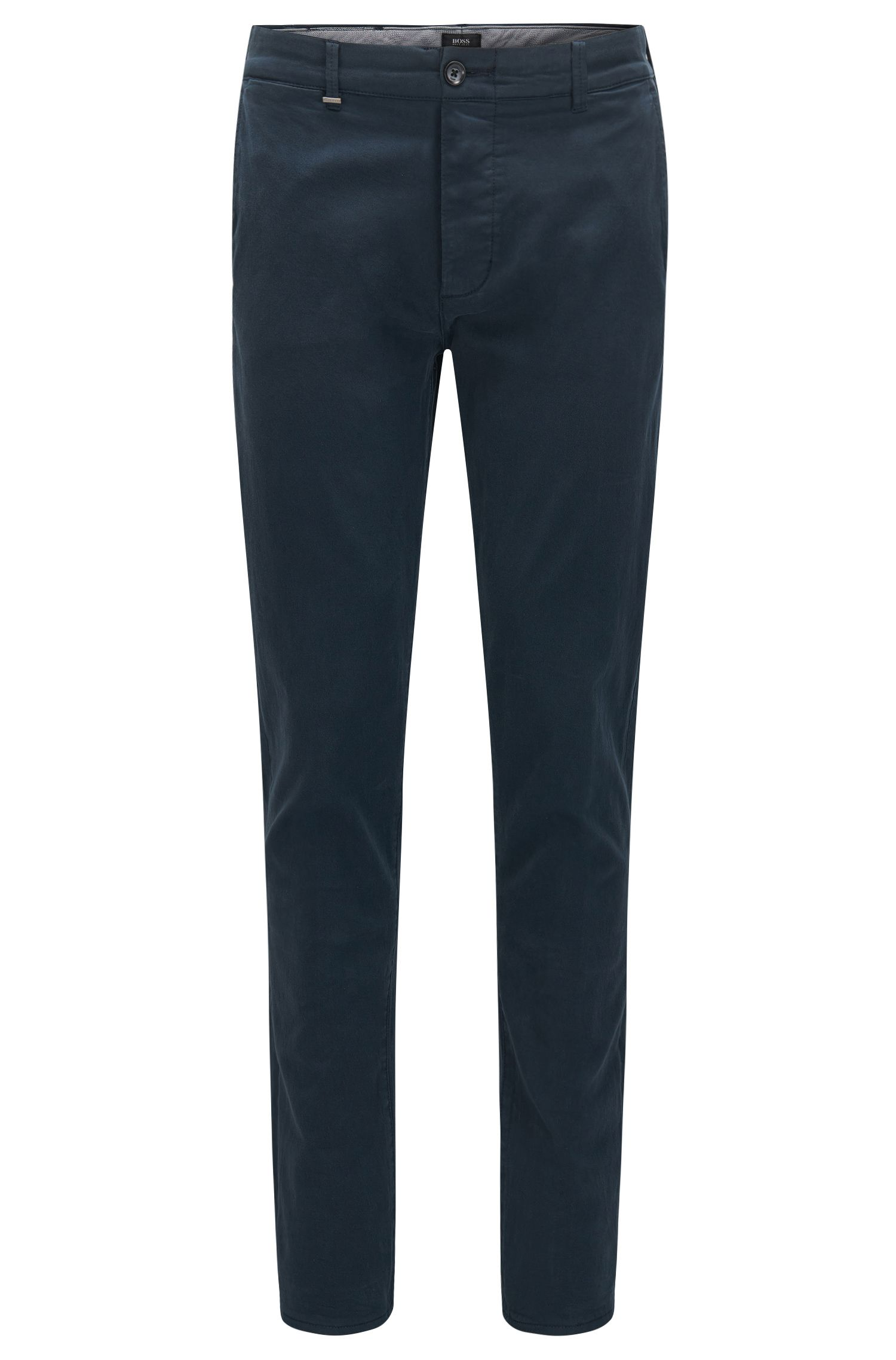 Regular-fit chinos in stretch cotton with selvedge edges: 'Fremont-Edge-20'