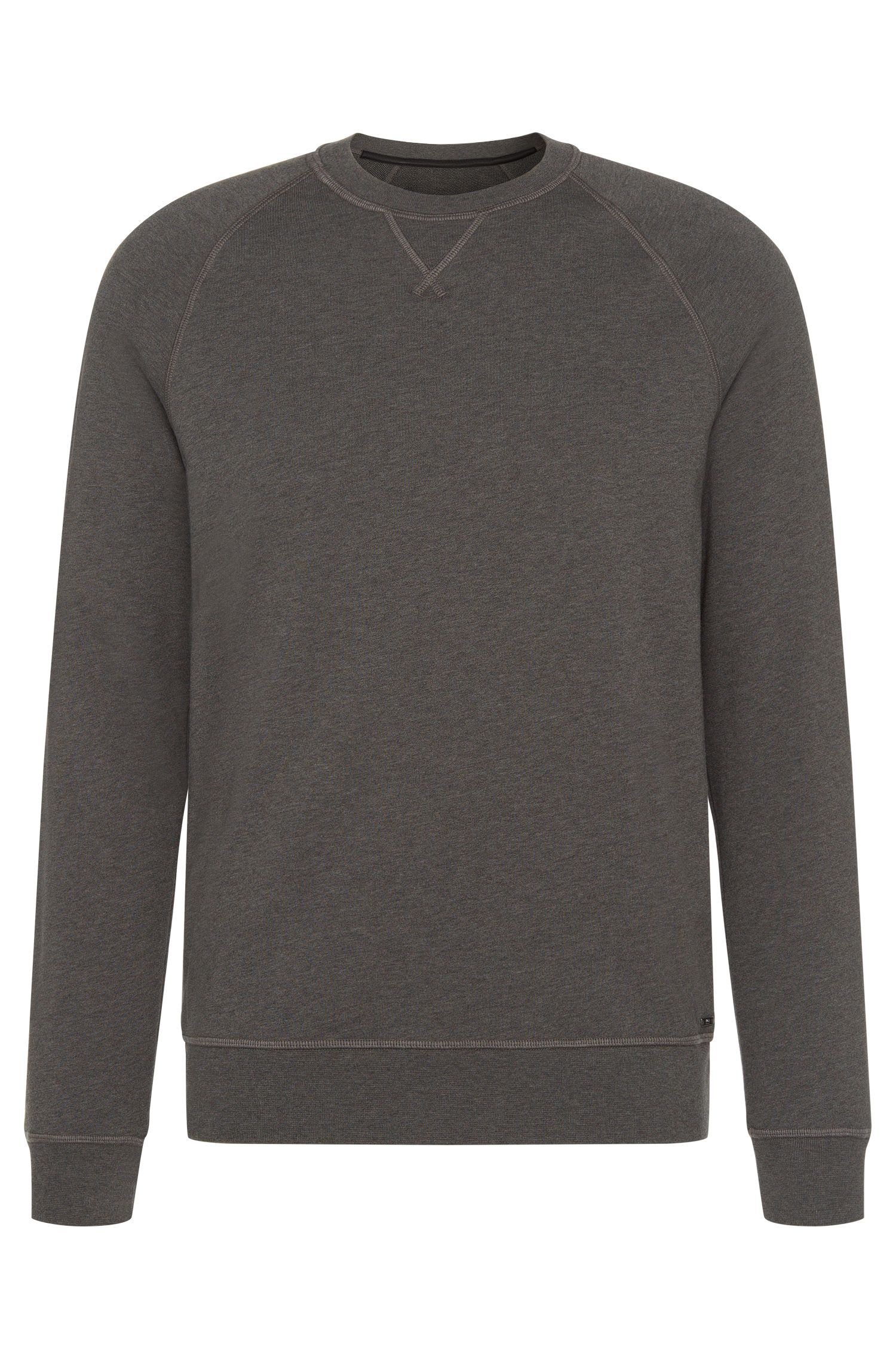 Mottled slim-fit sweatshirt in cotton with raglan sleeves: 'Skubic 18-WS'
