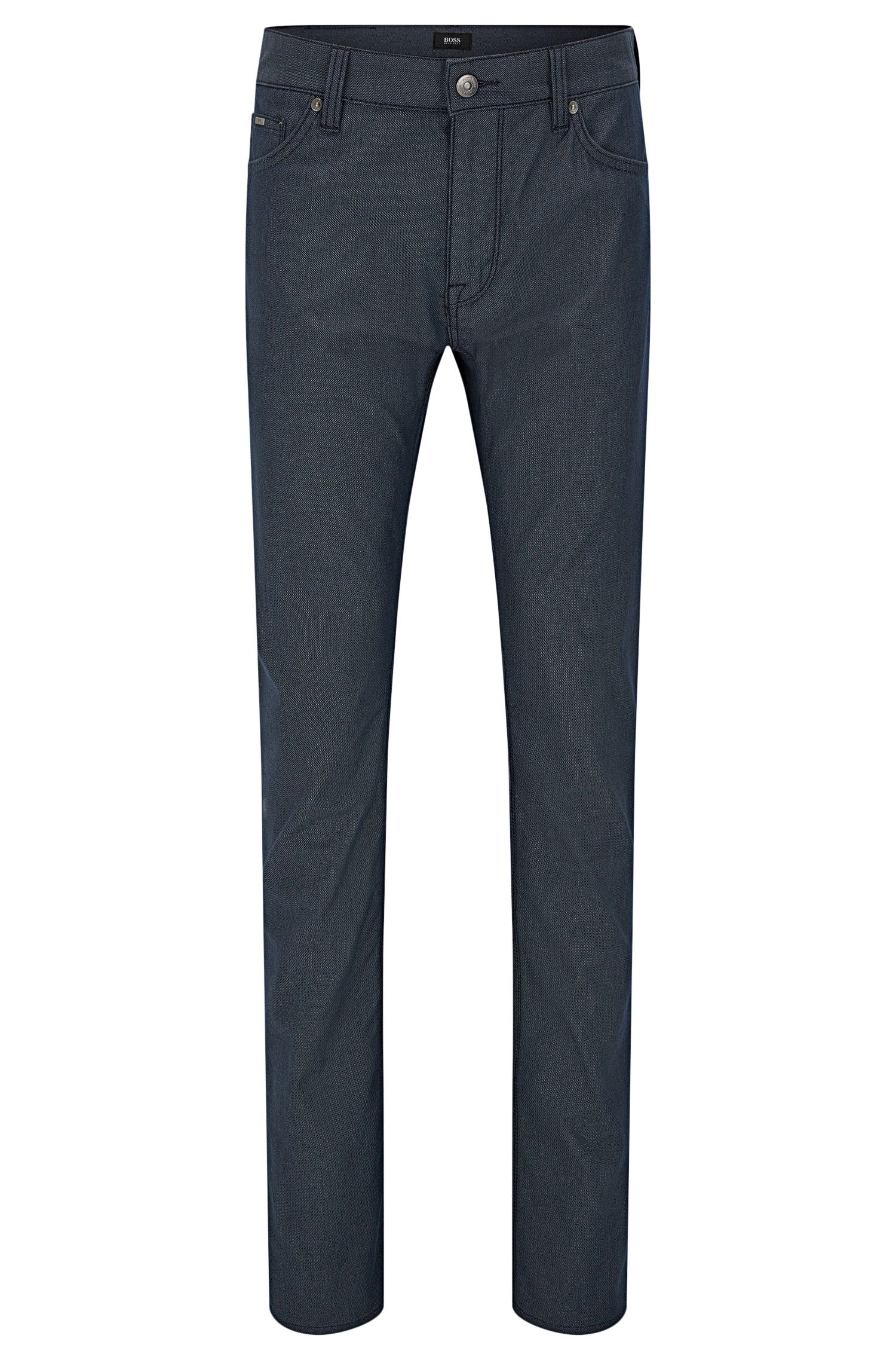 Regular-fit jeans in pin-point fabric