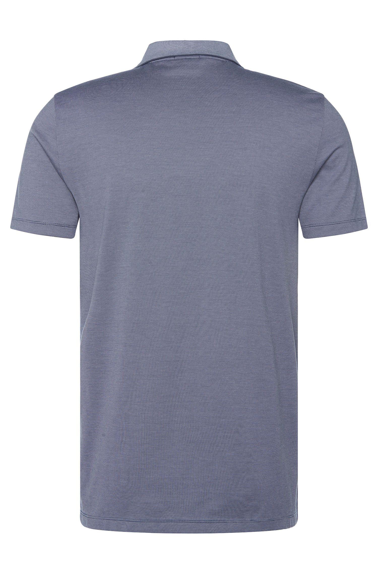 Fein gemustertes Regular-Fit Poloshirt aus Baumwolle: 'Parlay 07'