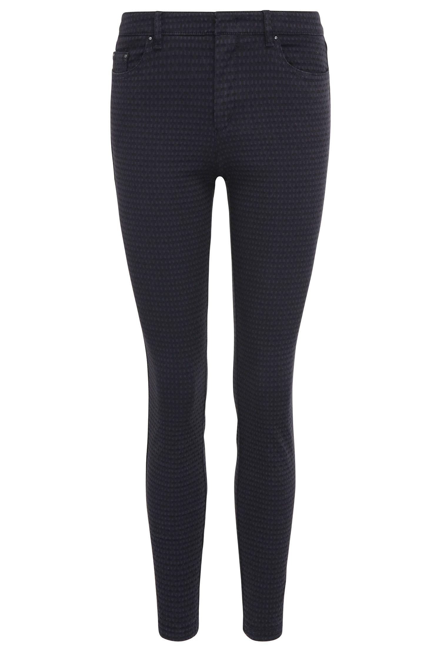 Pantaloni skinny fit strutturati in misto cotone elasticizzato: 'Sobina1-D'