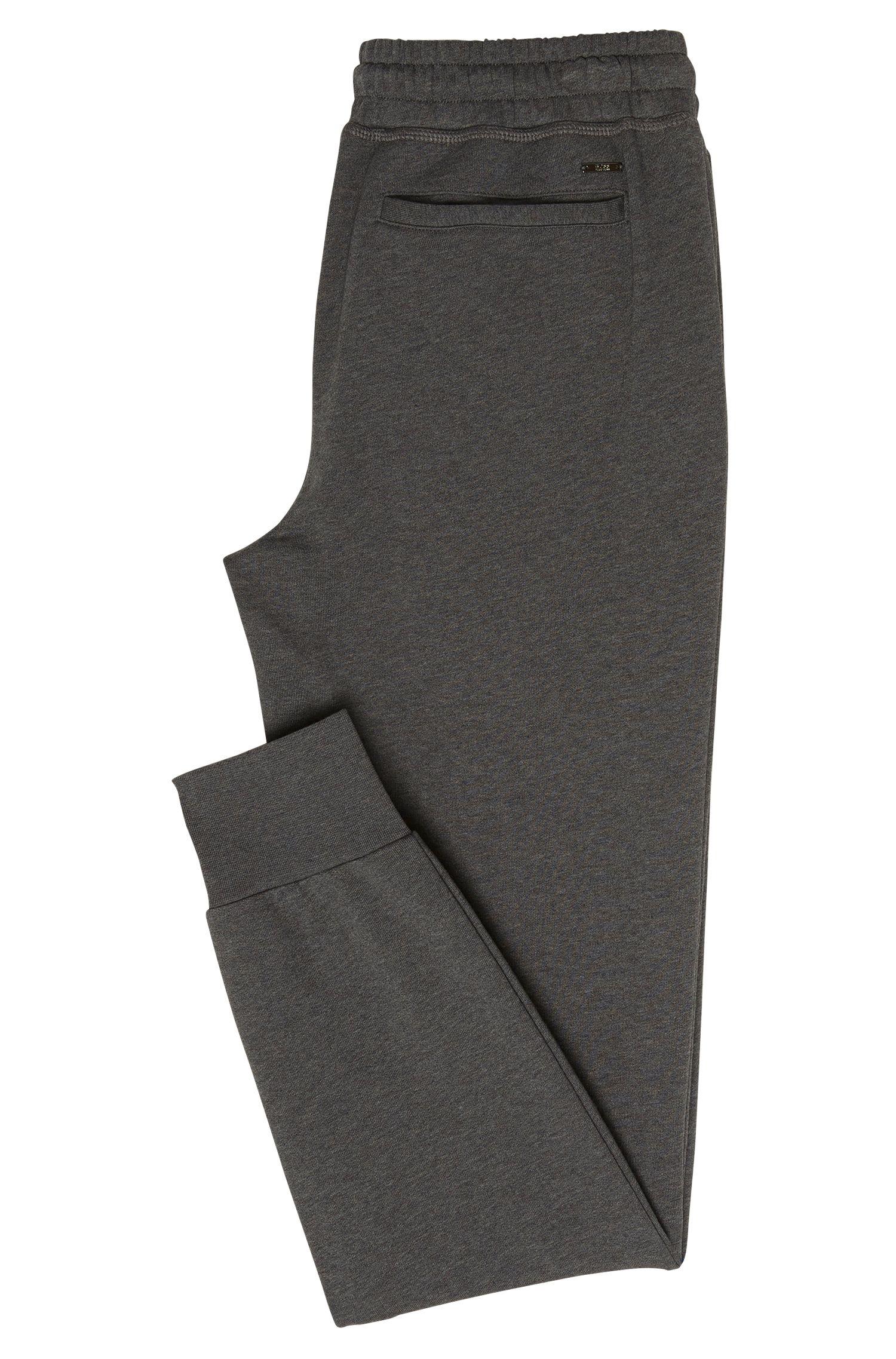 Melierte Sweathose aus Baumwolle mit Reißverschlusstaschen: 'Lamont 03-WS'