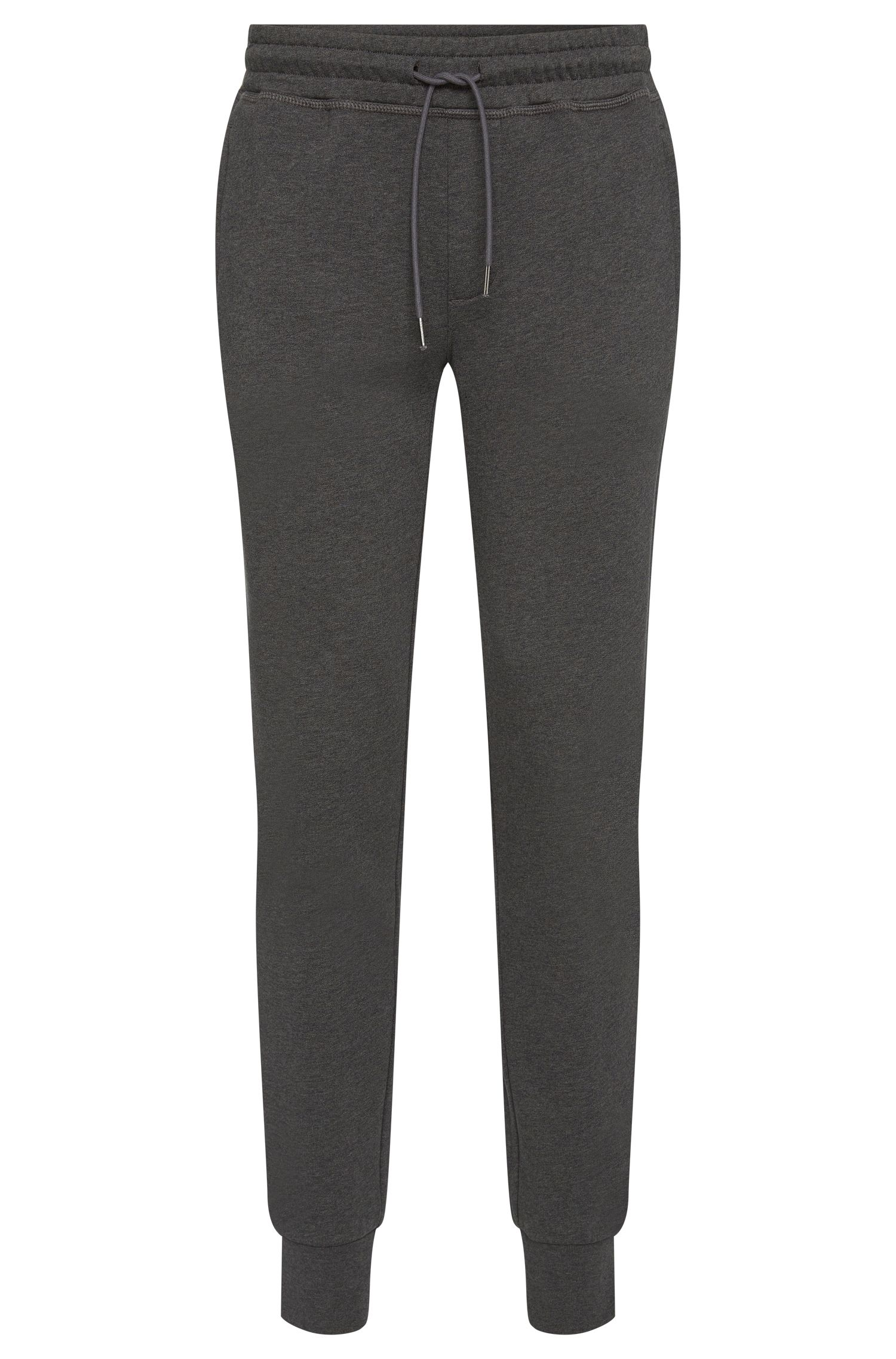 Mottled sweat trousers in cotton with zip pockets: 'Lamont 03-WS'