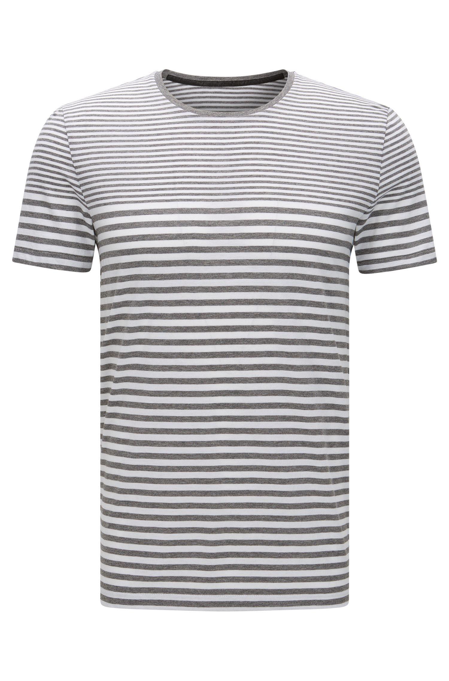 Gestreiftes Slim-Fit T-Shirt aus Baumwolle: 'Tessler 48-WS'