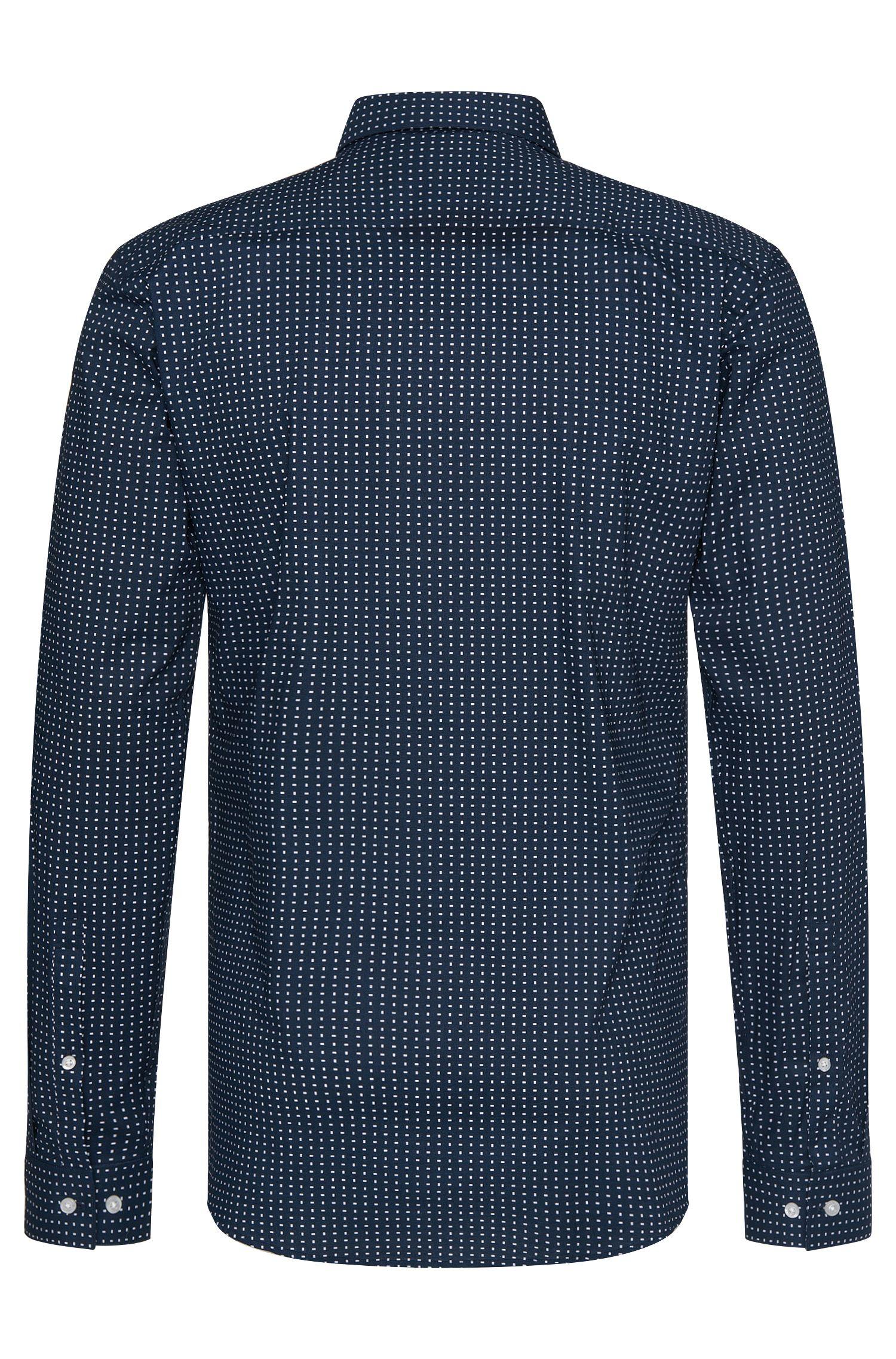 Gemustertes Slim-Fit Hemd aus Baumwolle: 'Erondo'