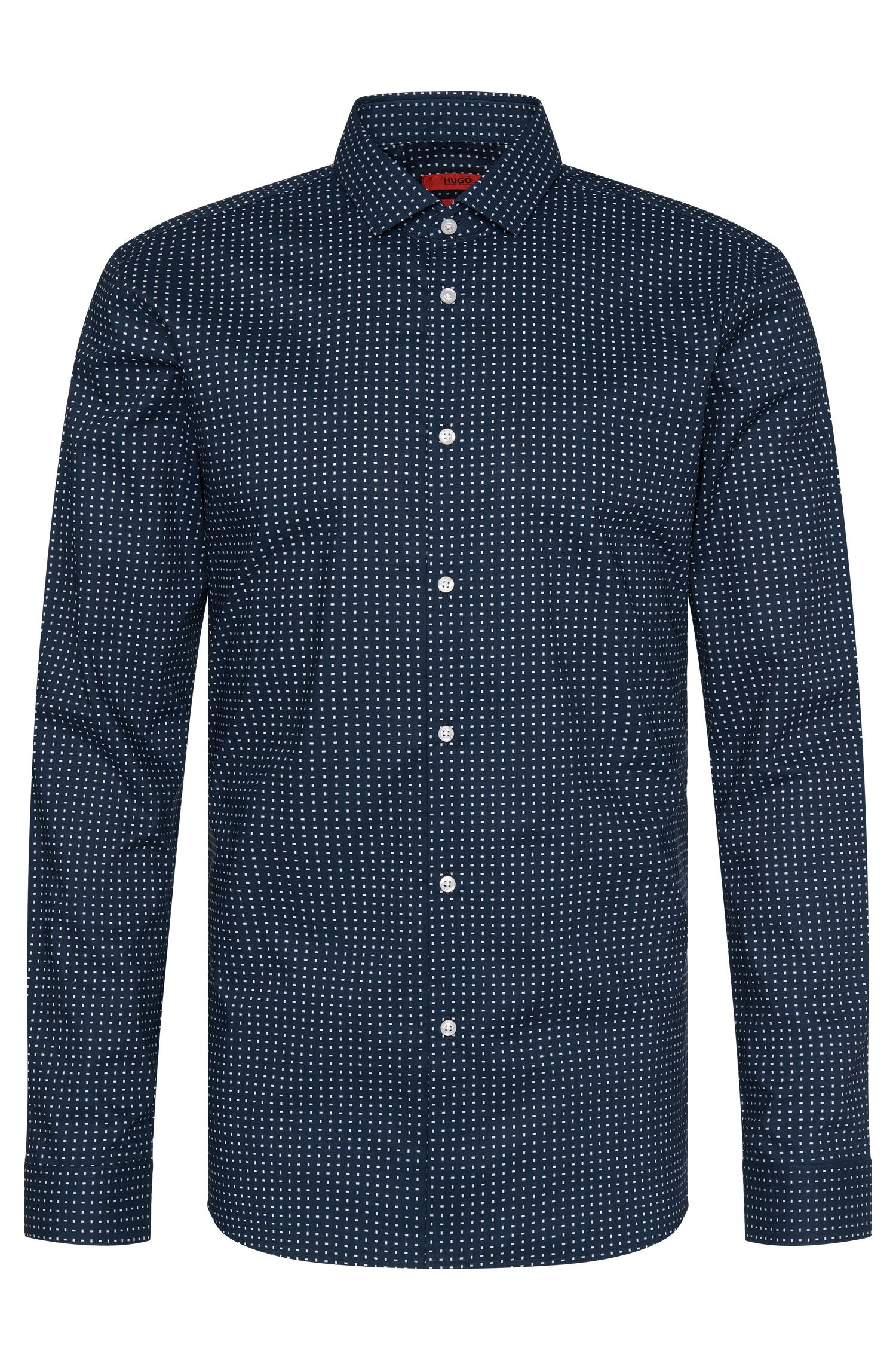 Patterned slim-fit shirt in cotton: 'Erondo'