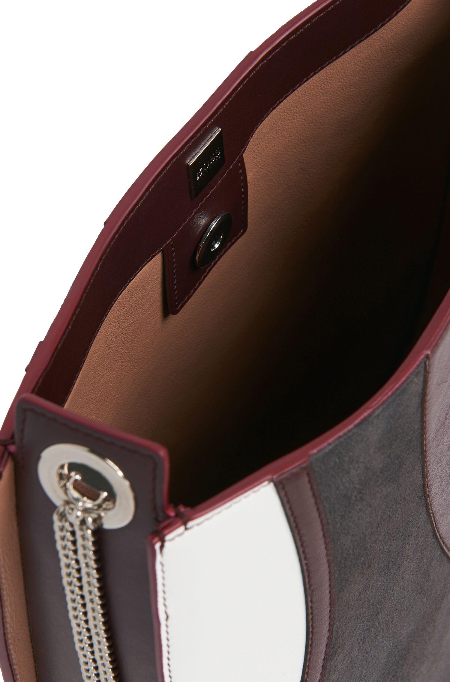 BOSS Bespoke-schoudertas van leer met grafisch ontwerp
