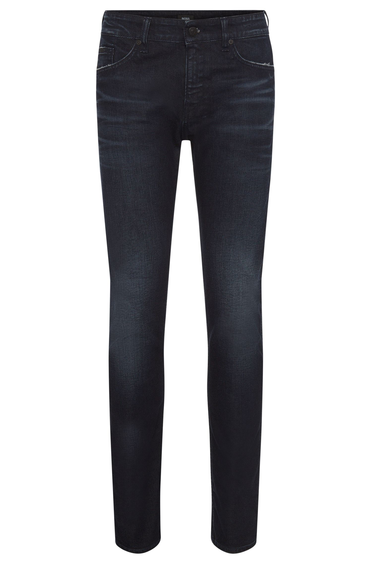 Slim-fit jeans in stretchy cotton with a subtle used-look wash: 'Delaware3'