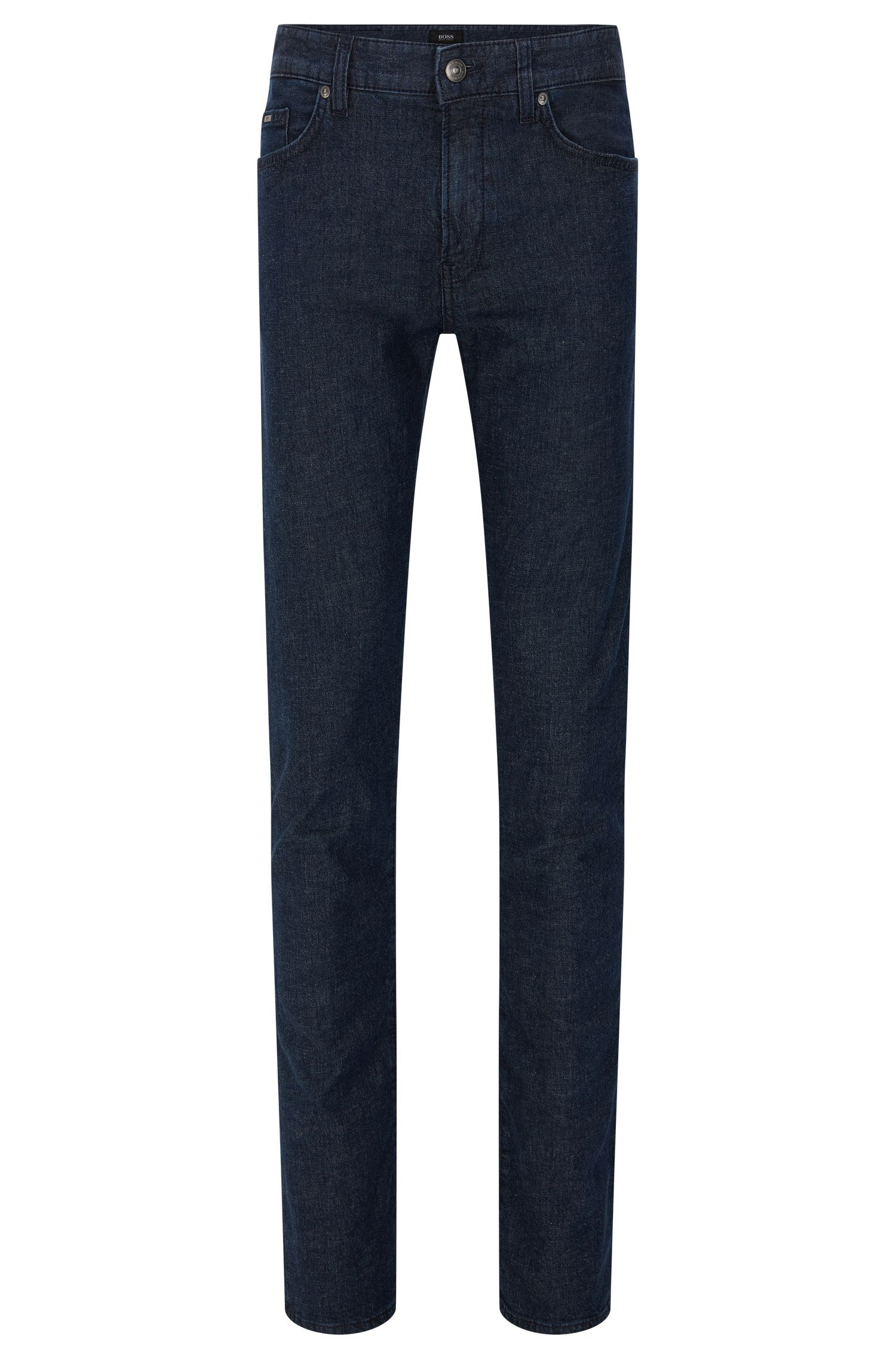 Slim-fit jeans in a stretchy cotton blend with lyocell and linen: 'Delaware3-1'