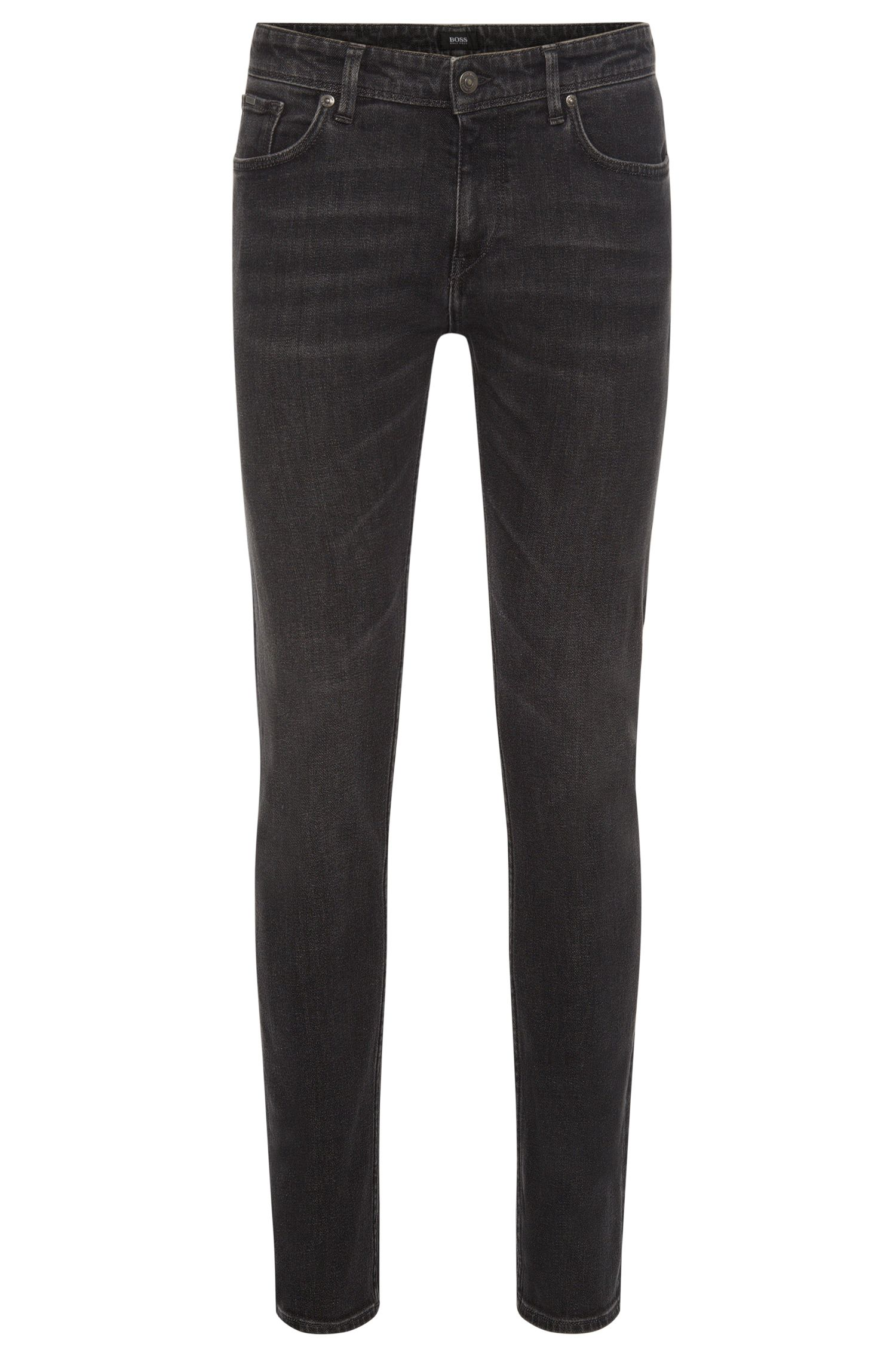 Slim-fit jeans in stretch cotton with a subtle used-look wash: 'Charleston3'