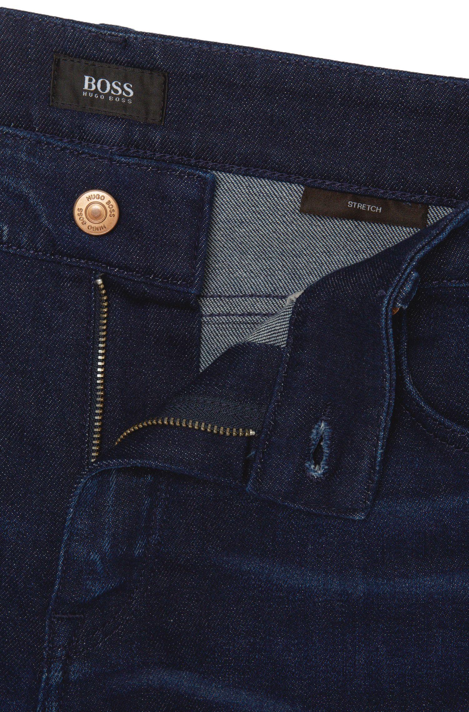 Jeans Regular Fit en coton mélangé extensible à effet délavé usé: «Maine3»