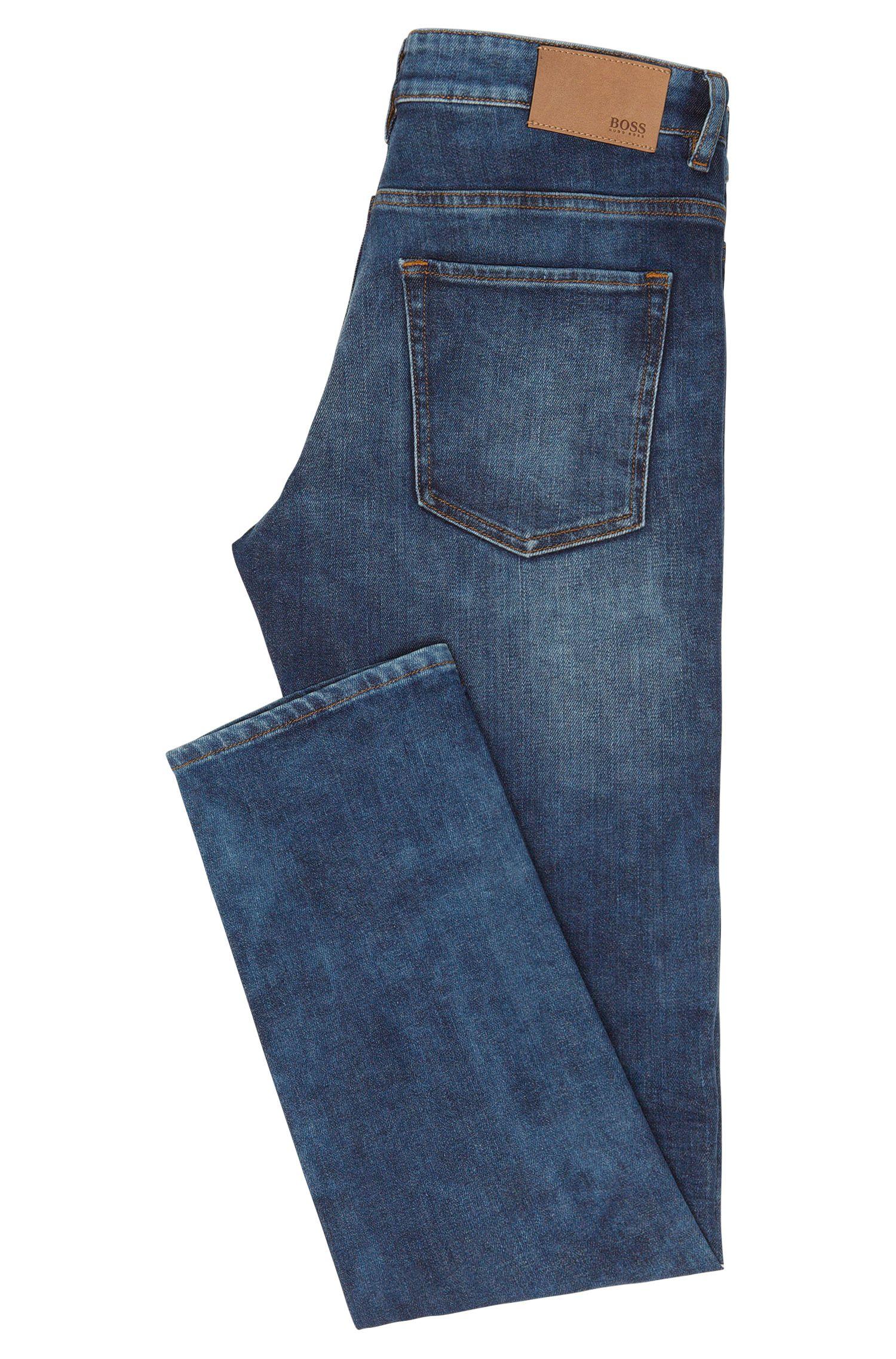 Slim-Fit Jeans aus elastischer Baumwolle mit dezenter Used-Waschung: 'Delaware3'