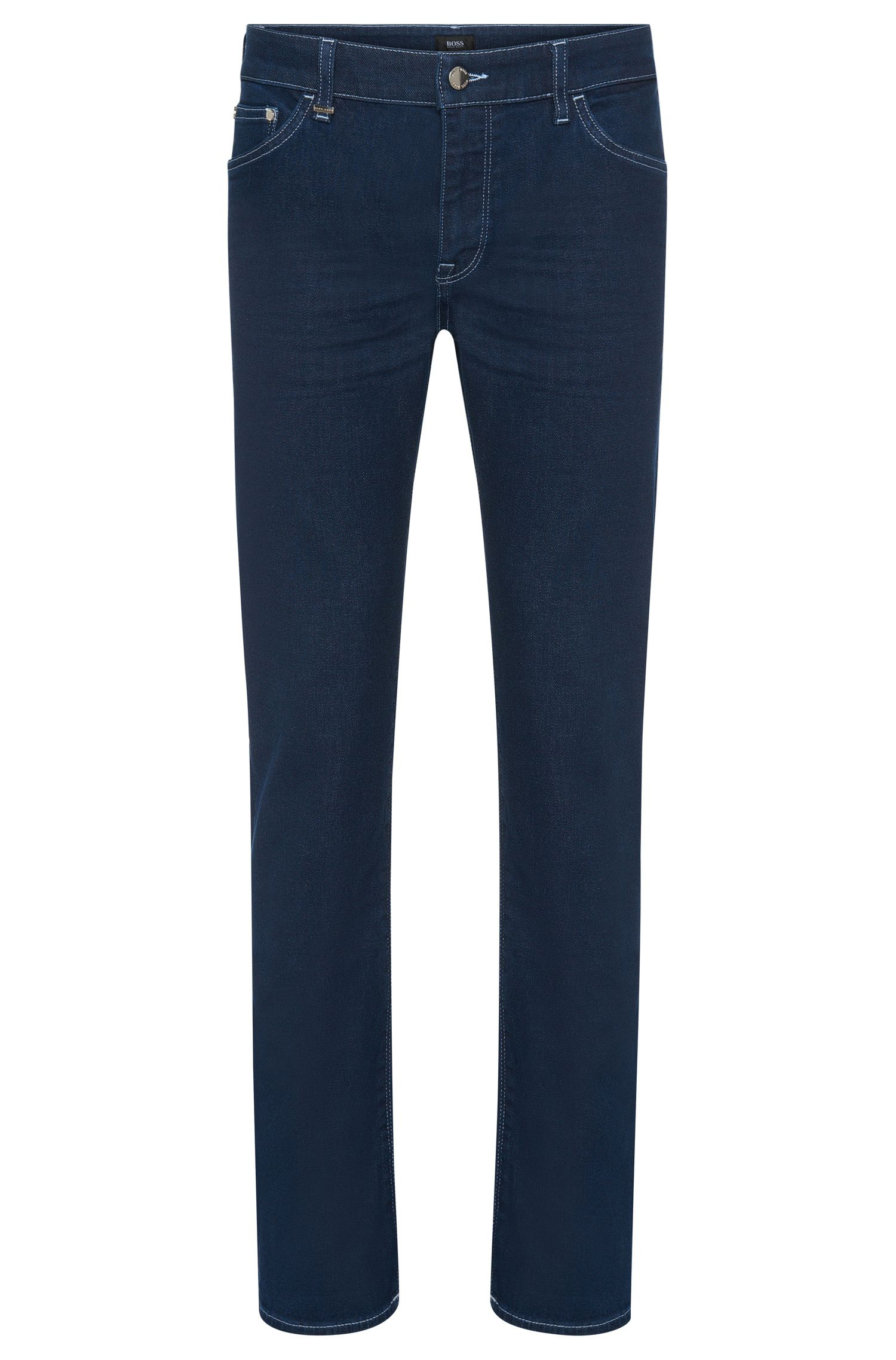 Regular-fit jeans in a stretchy cotton blend in a rinsed look: 'Maine3'
