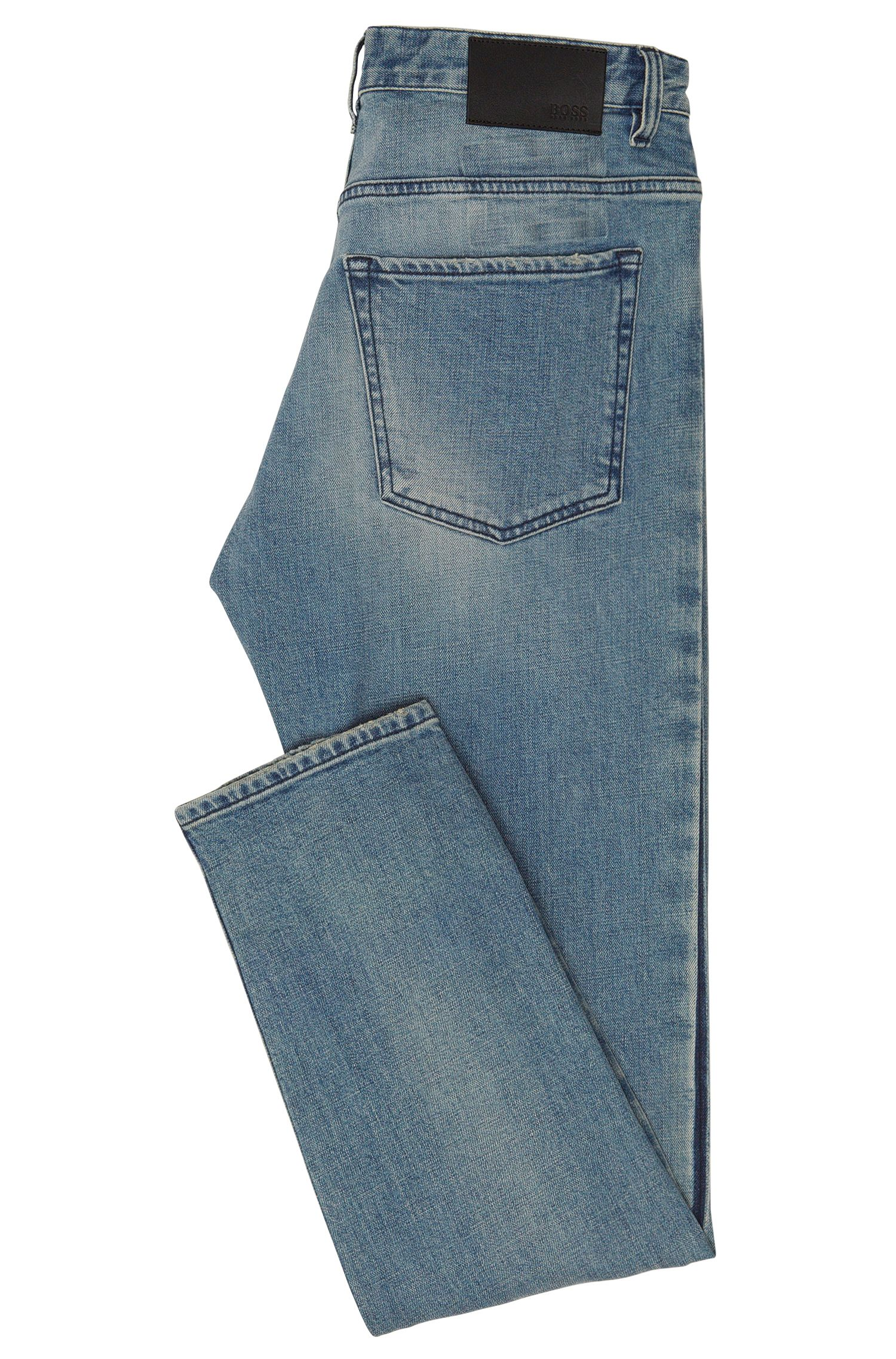 Slim-Fit Jeans aus Stretch-Baumwolle mit Used-Effekten: 'Delaware3'
