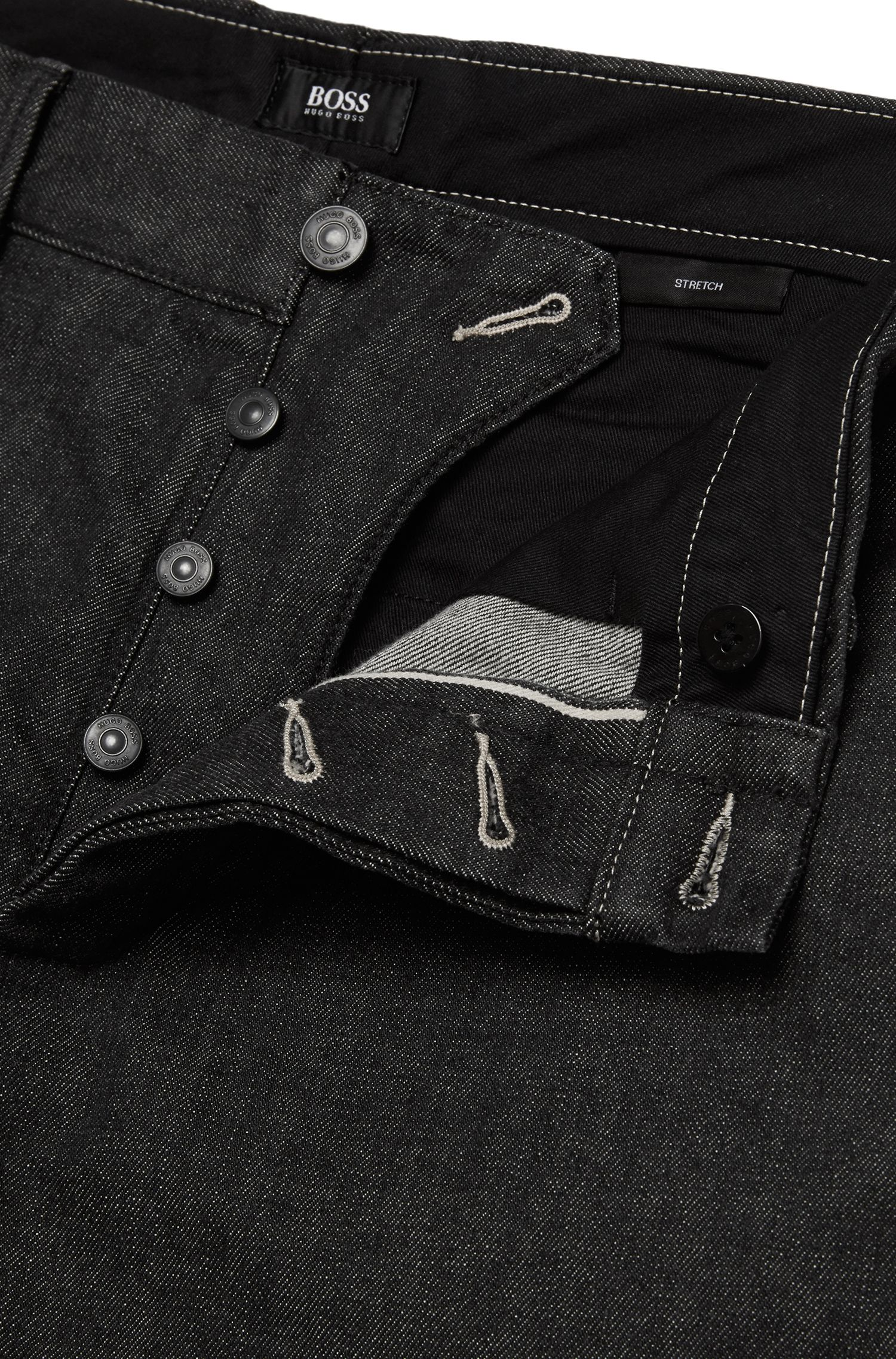 Jeans Regular Fit en coton stretch à la finition rinsed : « Fremont-Edge »