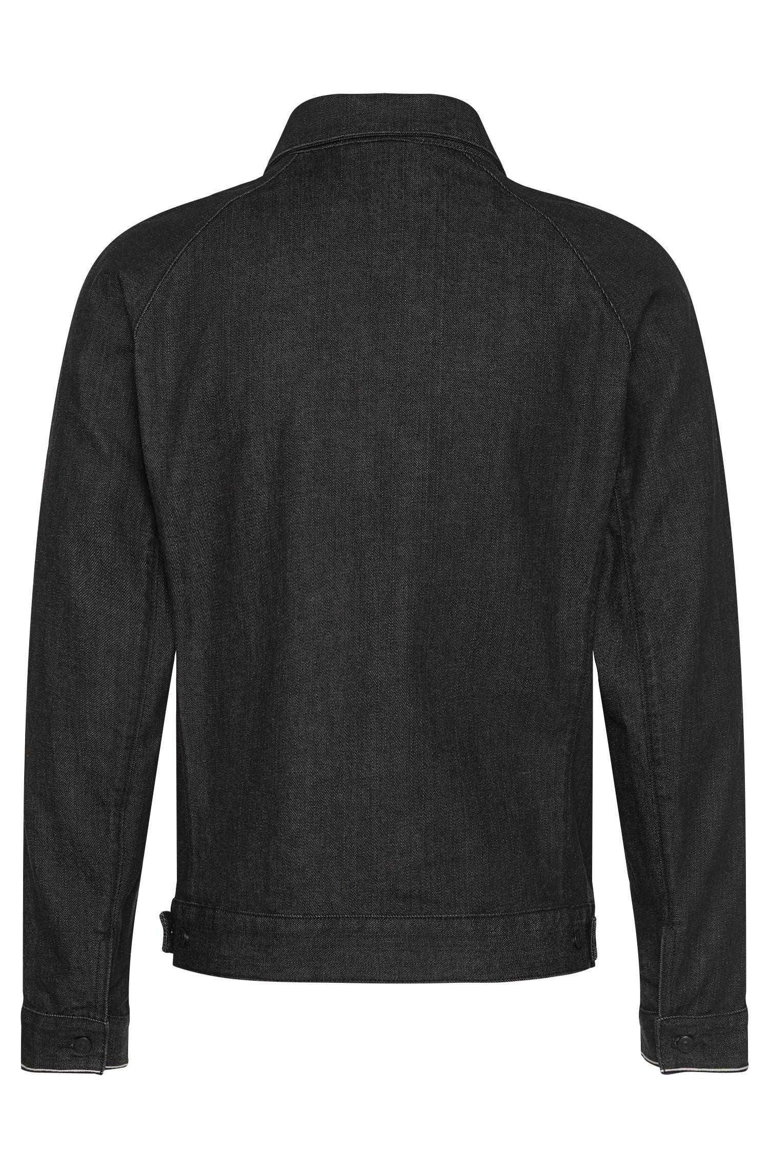 Veste en jeans Slim Fit en coton stretch à patte de boutonnage invisible: «Chicago»