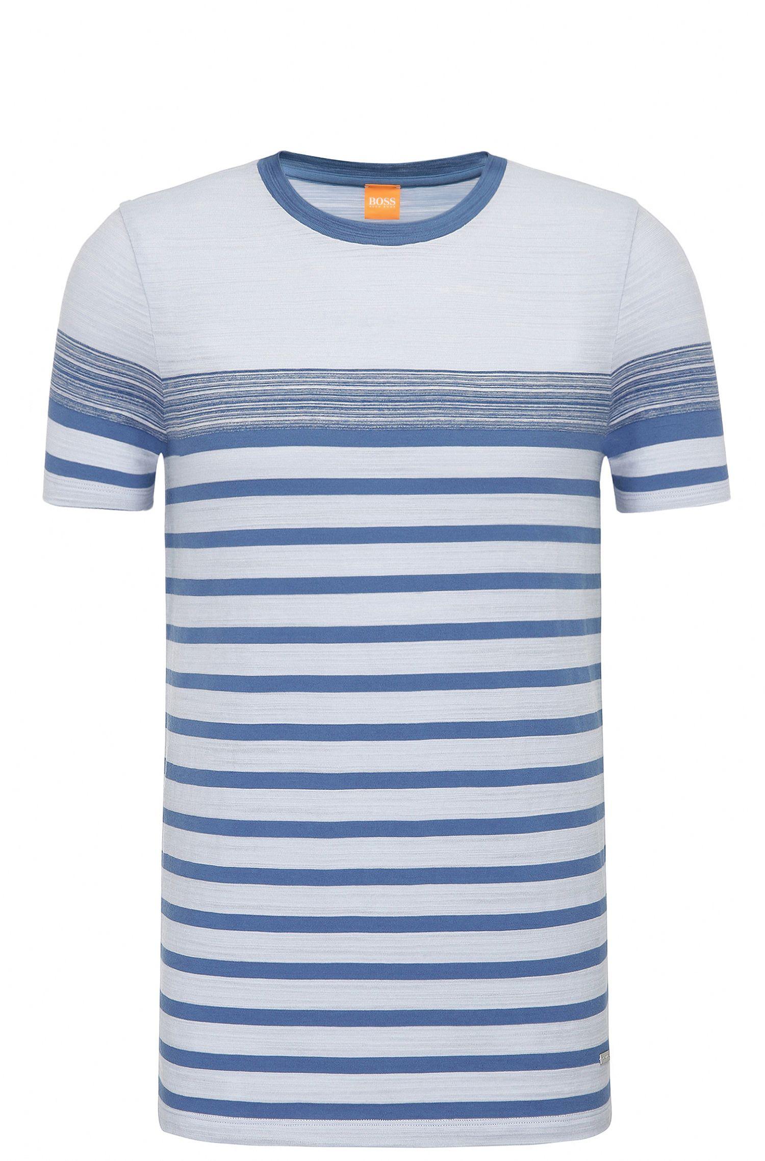 Regular-Fit Shirt aus Baumwolle mit Space-Dye-Streifen: ´Teamplayer`