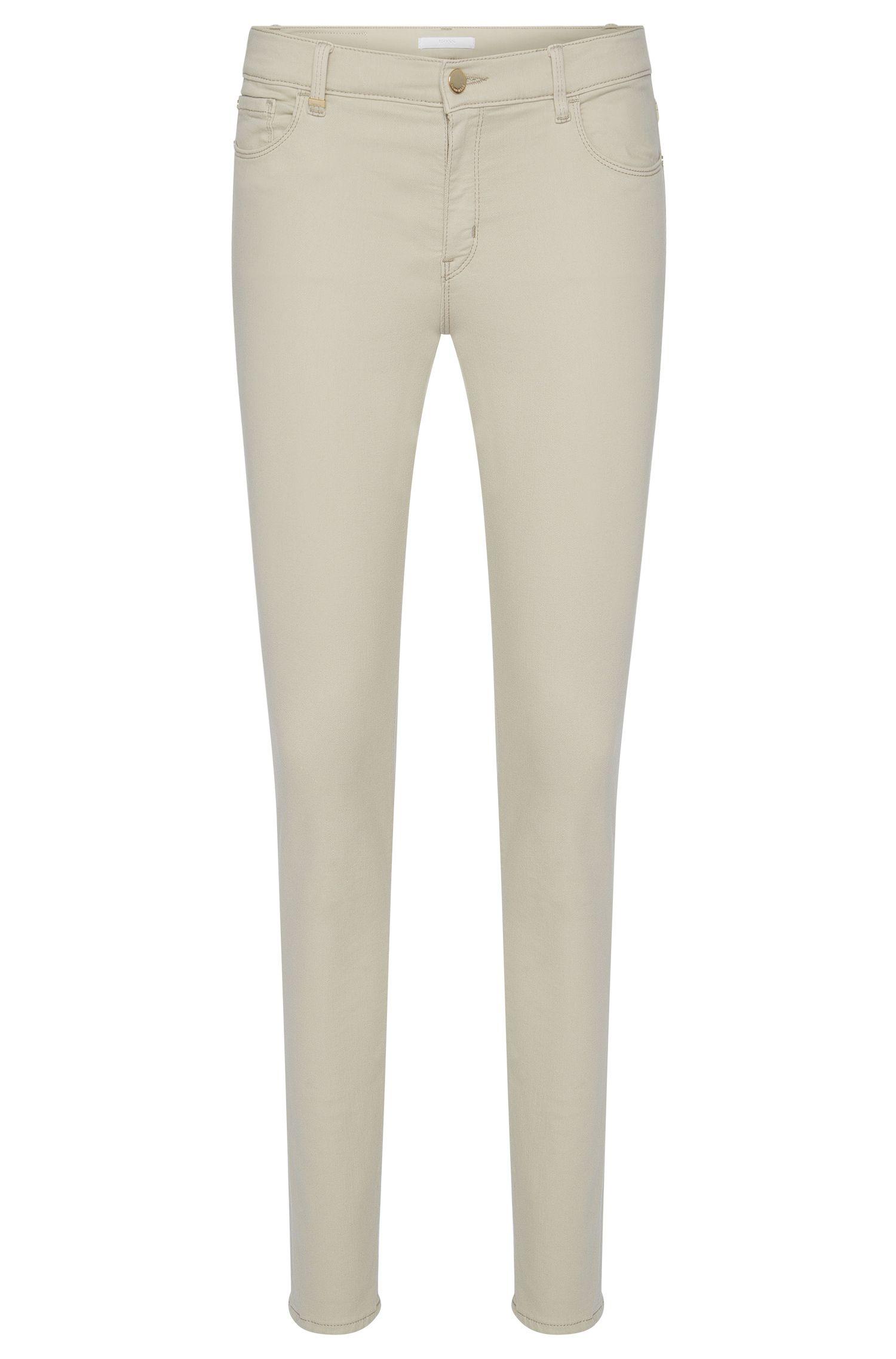 Slim-fit jeans van een elastische katoenmix: 'Nafice Cuff'