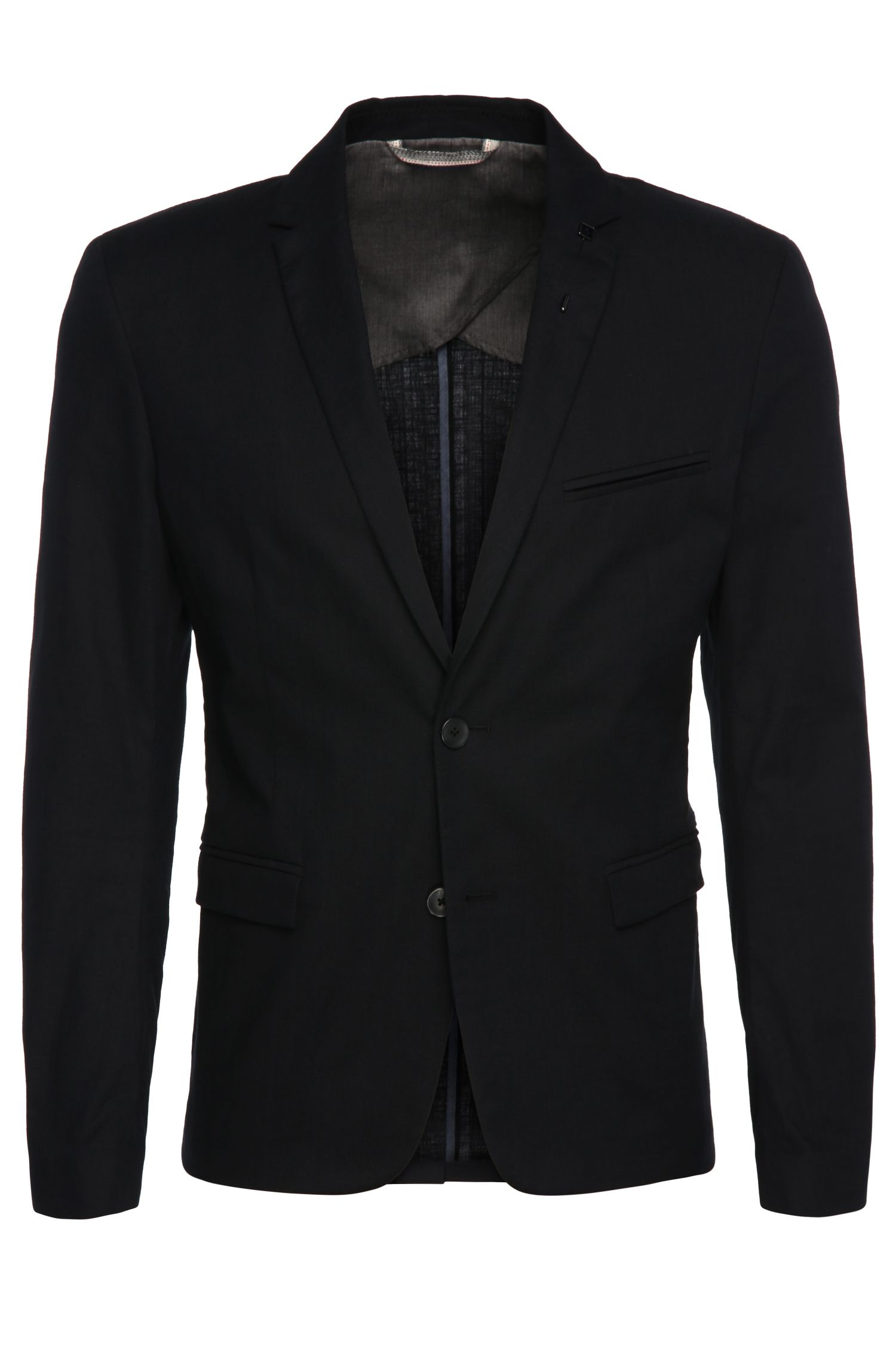 Slim-fit tailored jacket in stretch cotton: 'Benestretch7'