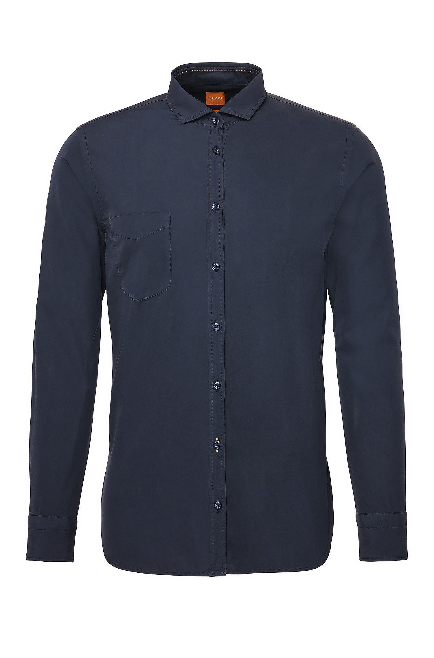 Slim-fit shirt in cotton: 'Cattitude'