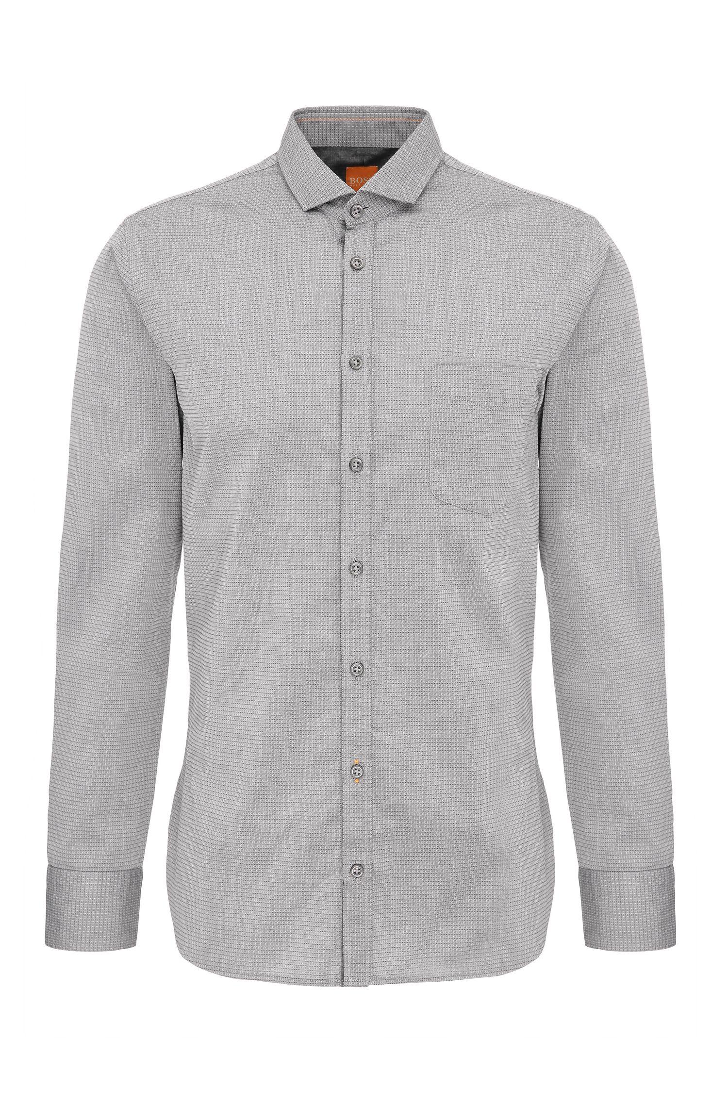Slim-Fit Hemd aus Baumwolle: ´Cattitude`