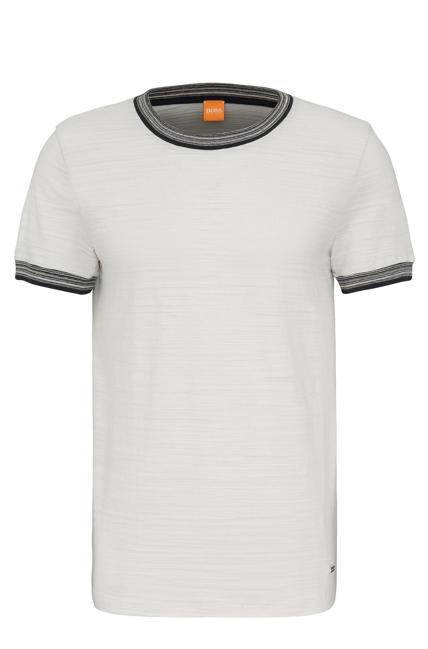 Regular-fit t-shirt in pure cotton: 'Teamer'