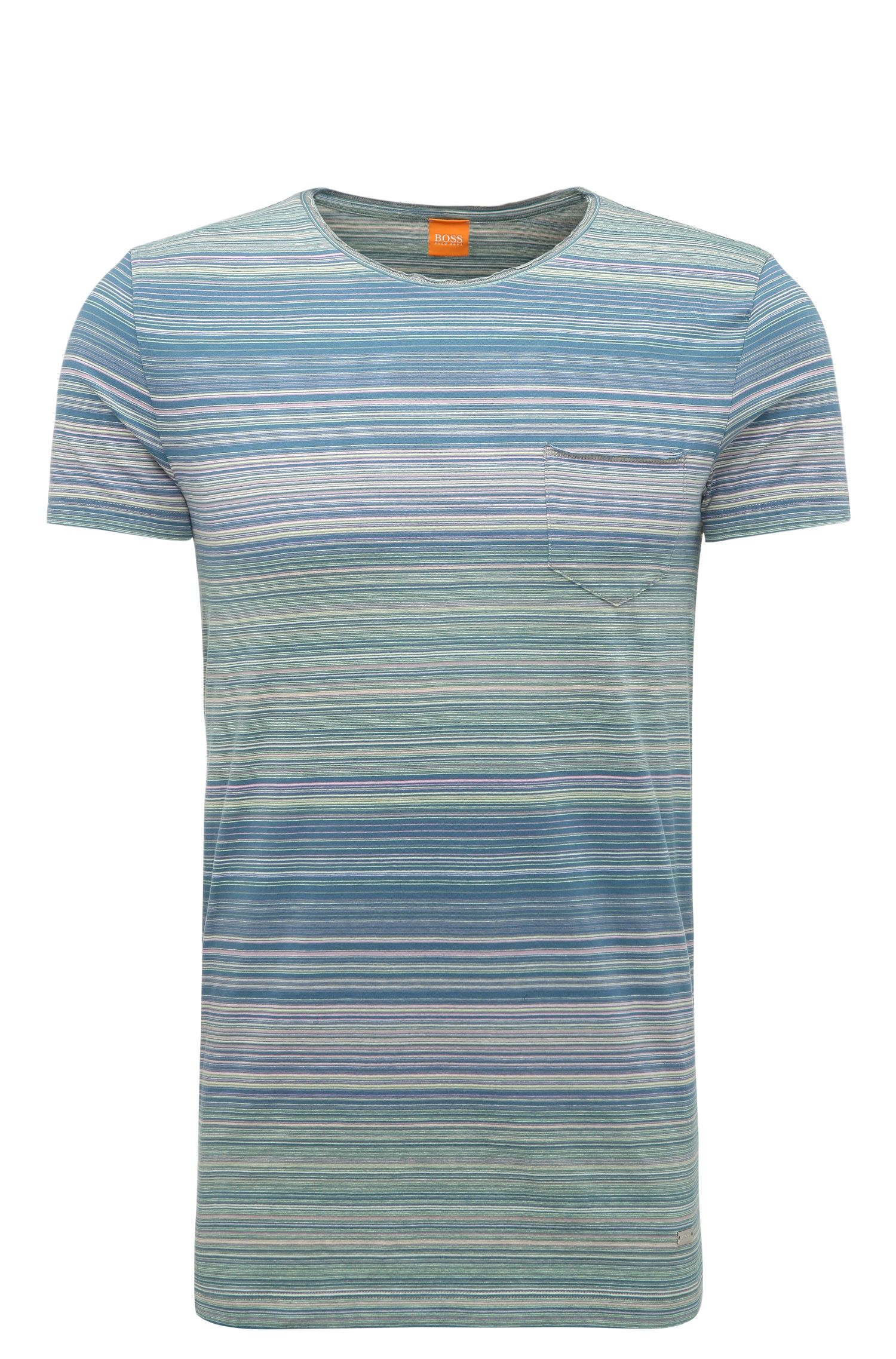 Striped slim-fit t-shirt in cotton: 'Tedryk'