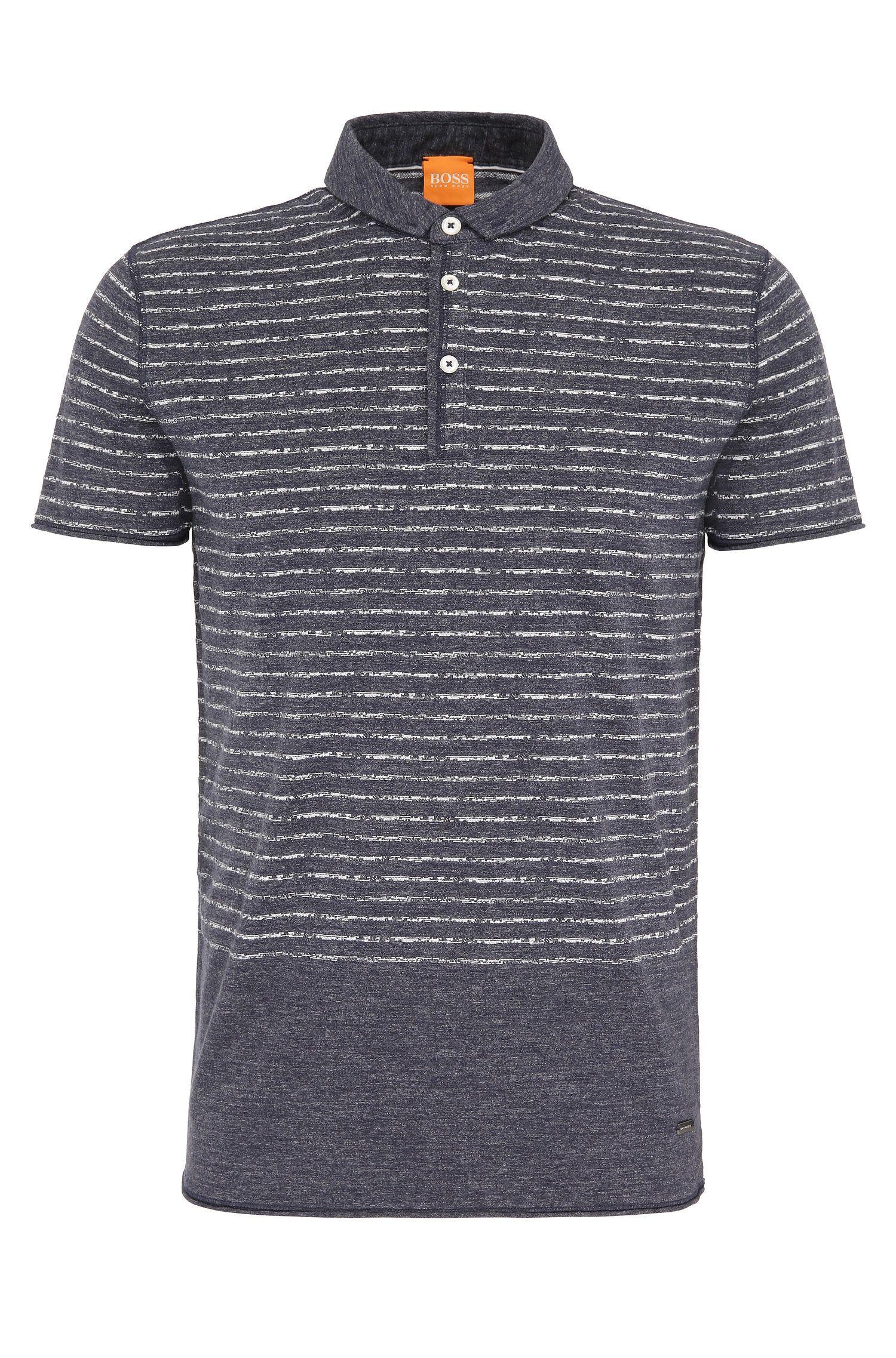 Relaxed-Fit Poloshirt aus Baumwolle mit Streifenmuster: ´Priam`