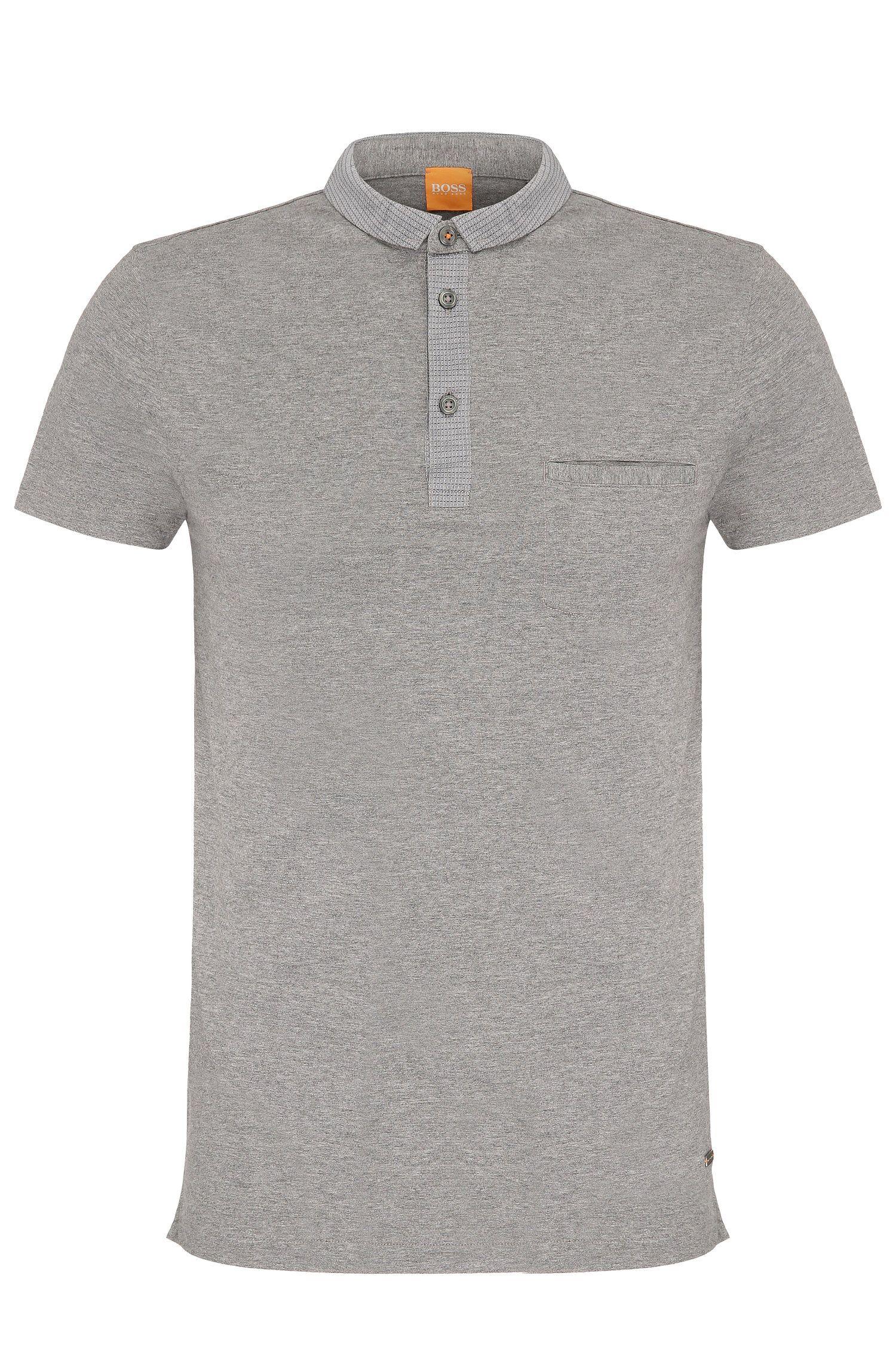 Mottled regular-fit polo shirt in cotton: 'Patcherman 1'