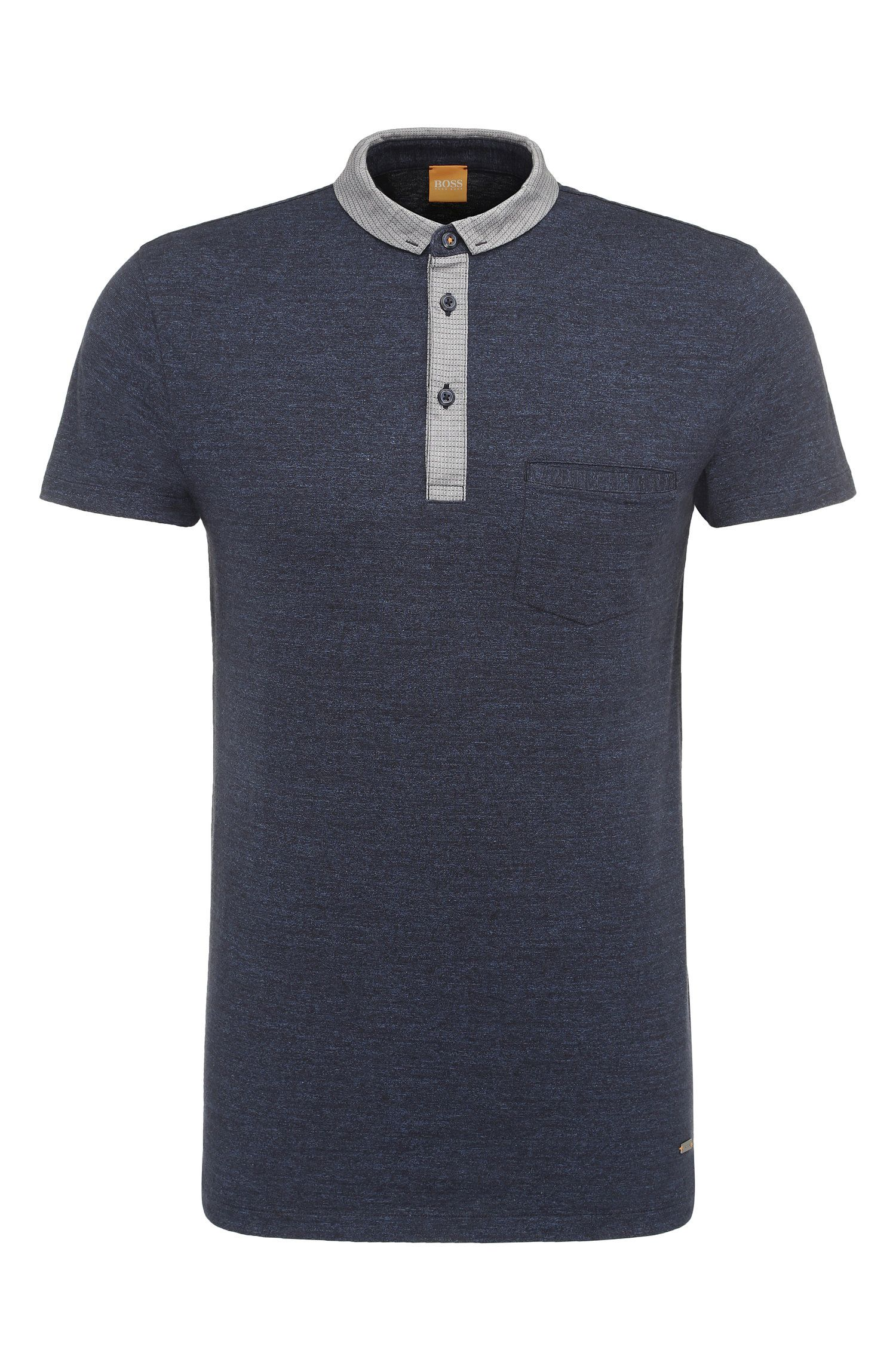 Mottled regular-fit polo shirt in cotton: 'Patcherman 1'