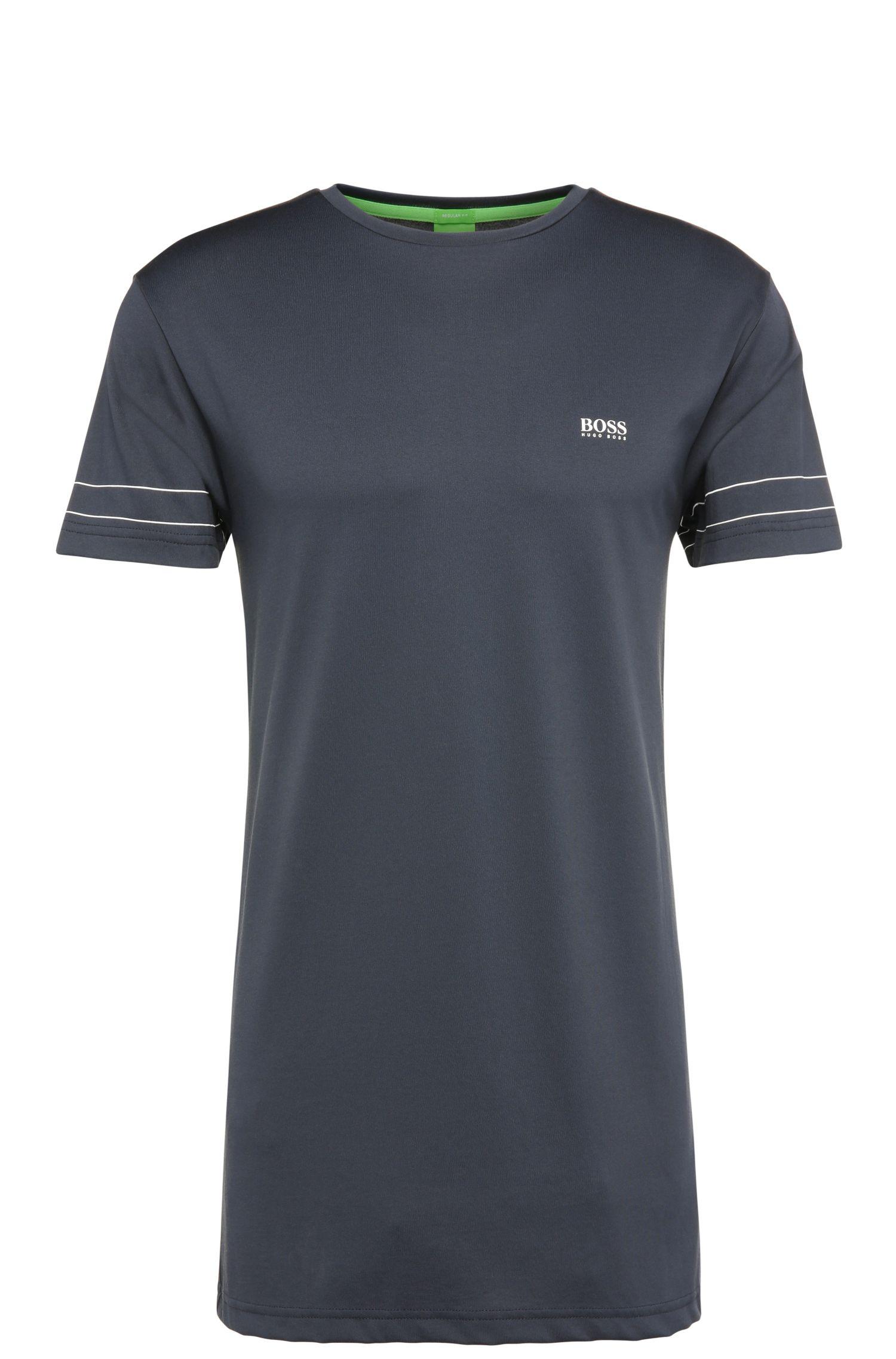Regular-Fit T-Shirt aus Baumwoll-Mix: ´Teelong 1`