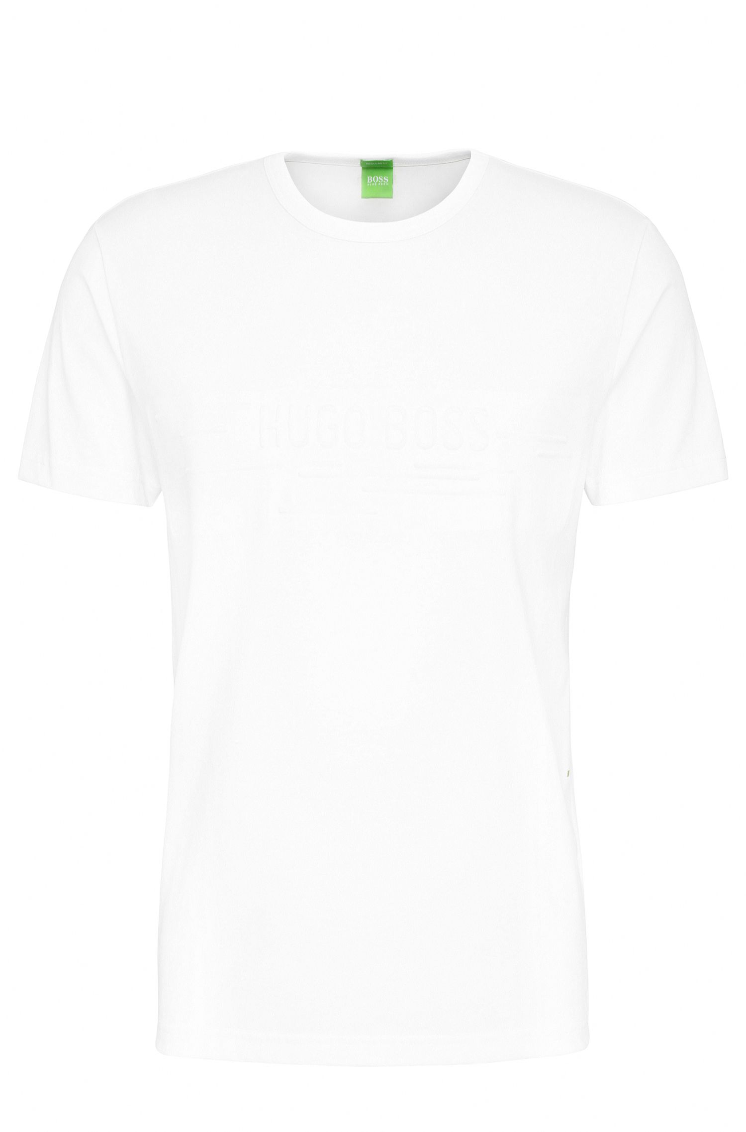 Regular-fit cotton blend t-shirt: 'Tee 9'
