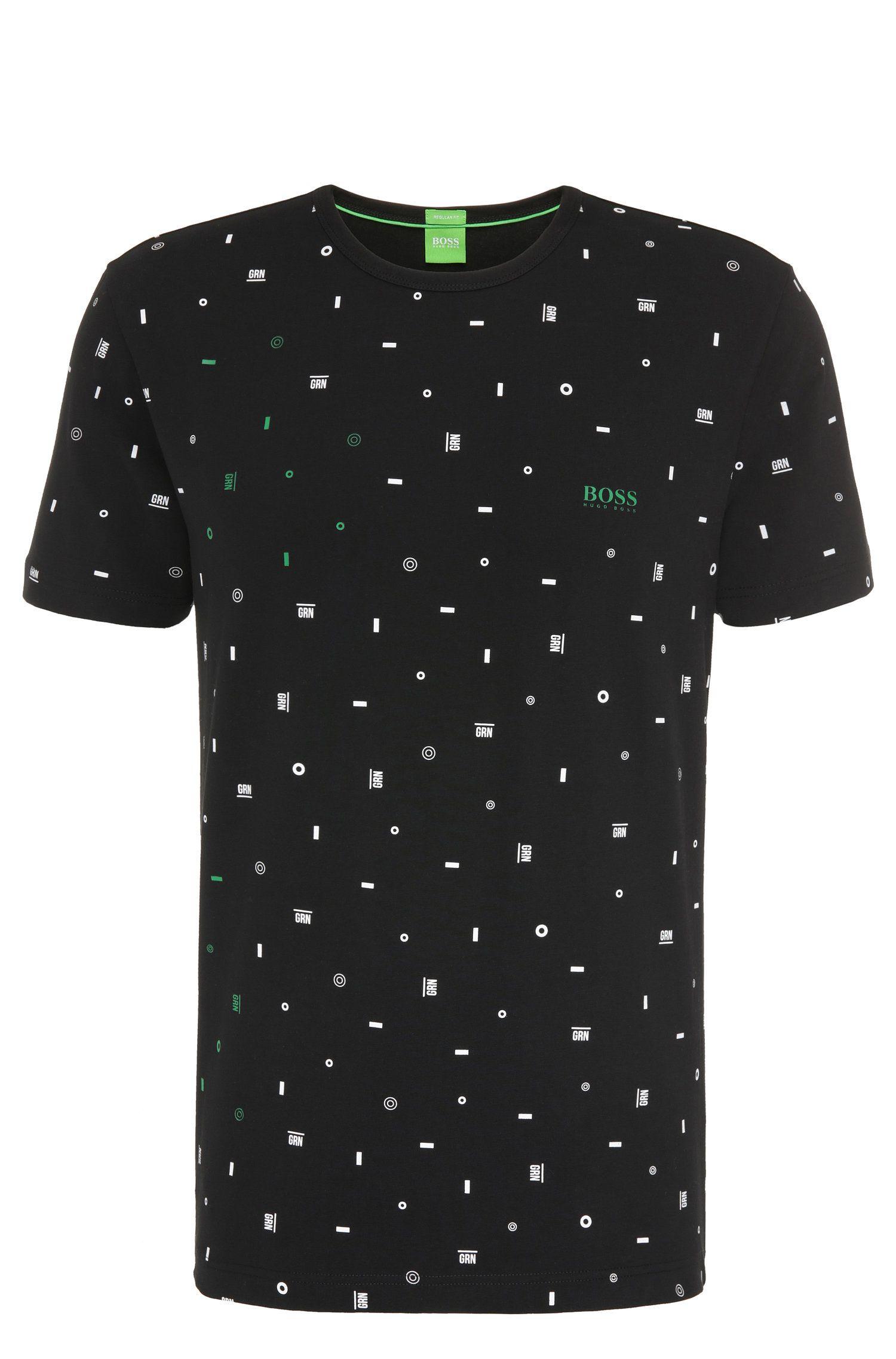 Camiseta regular fit en algodón elástico con estampado gráfico: 'Tee 7'