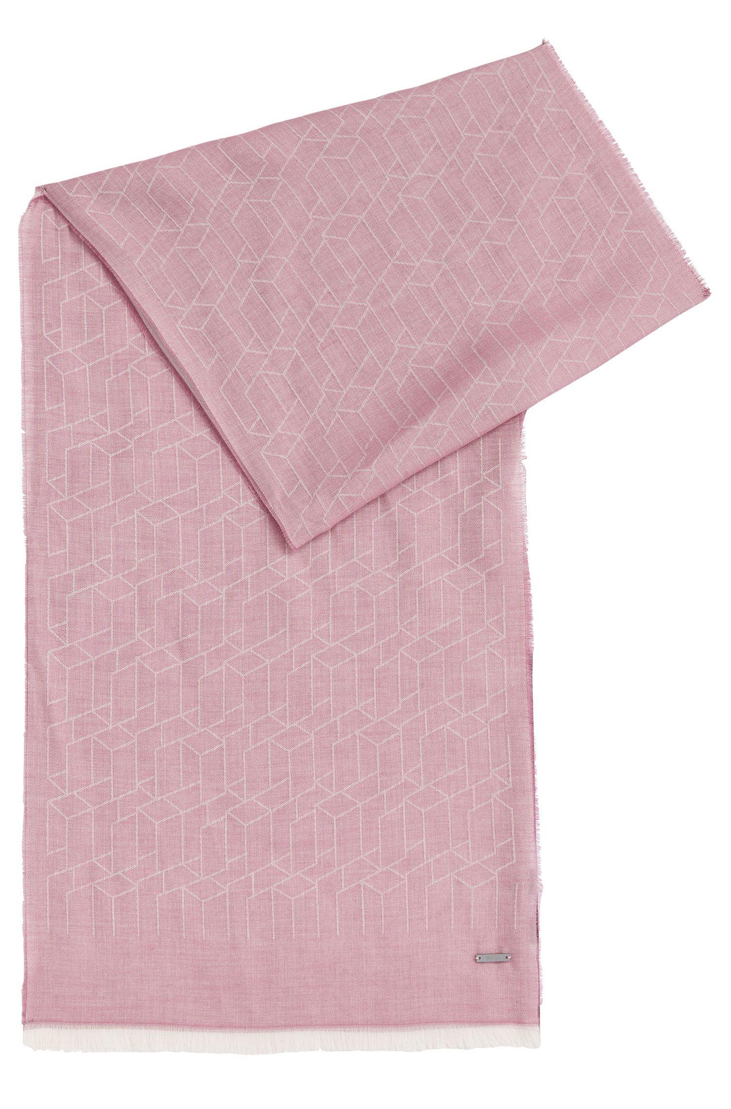 Écharpe à motif en viscose mélangée à du coton et du modal: «Catore»