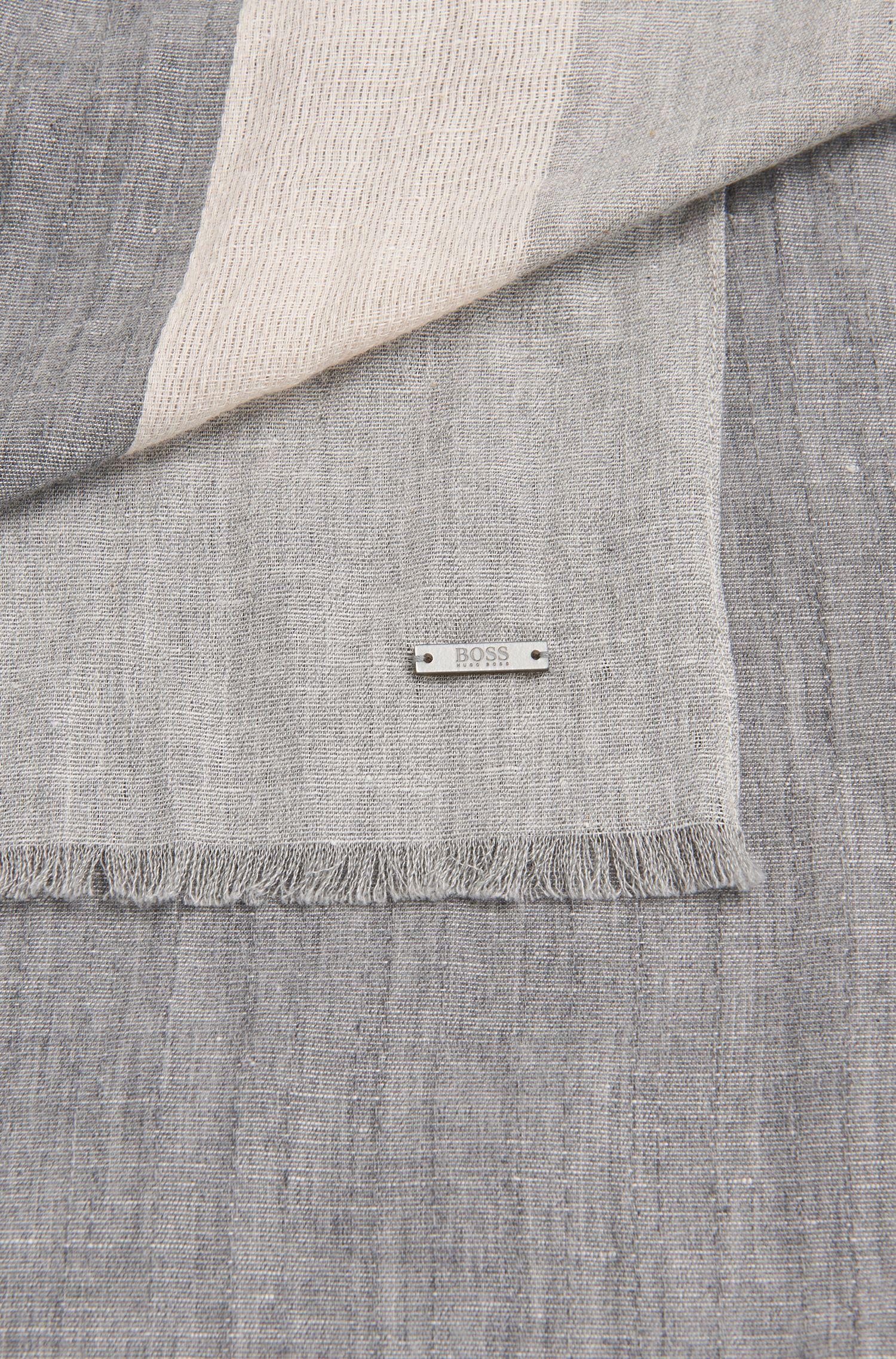 Gemêleerde sjaal van een katoenmix met linnen: 'Cabello'