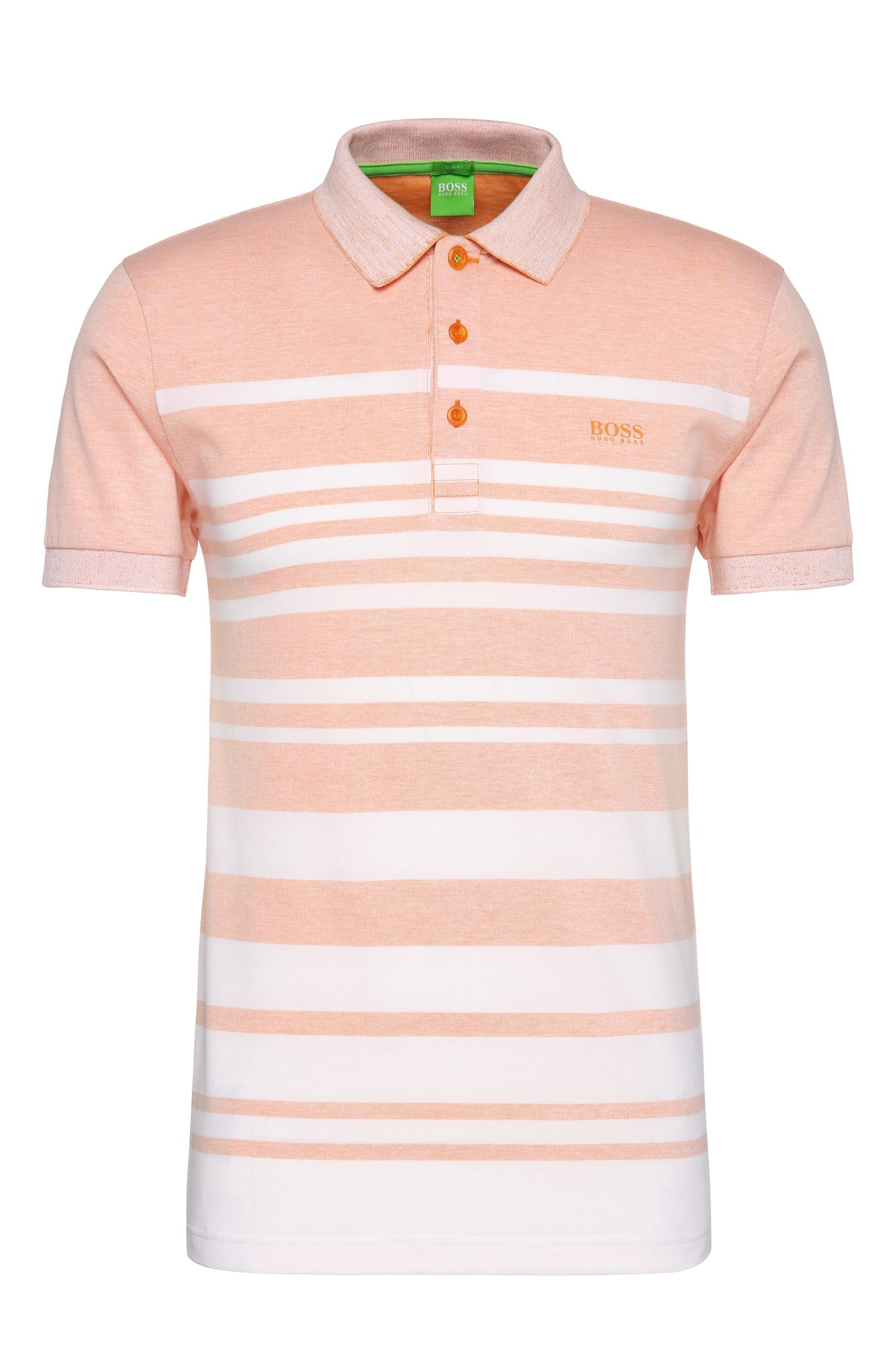 Polo slim fit in misto cotone a righe: 'Paule 8'