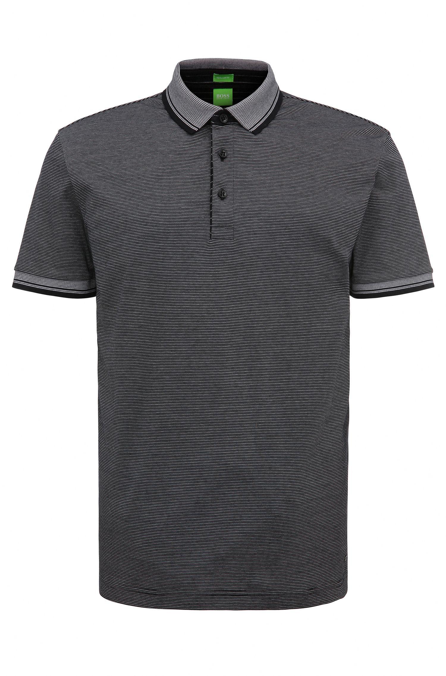 Gestreiftes Regular-Fit Poloshirt aus Baumwolle: ´C-Janis`