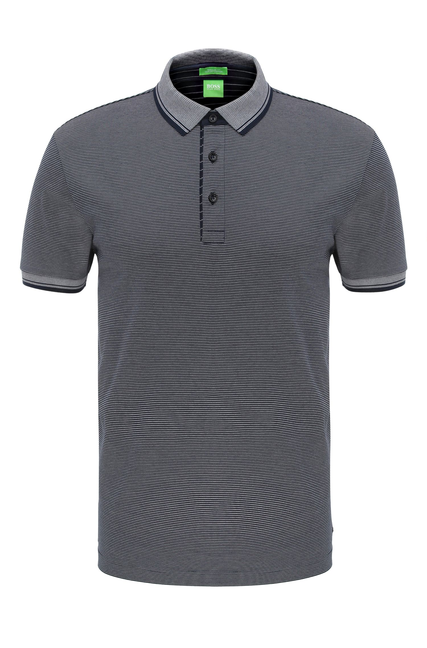 Striped regular-fit polo shirt in cotton: 'C-Janis'